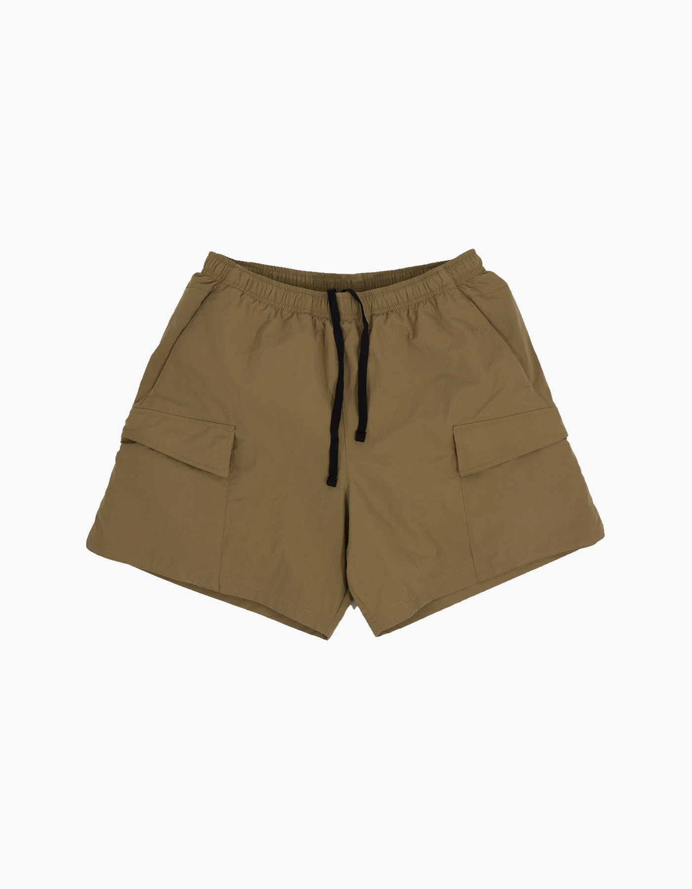 NYLON TAFFETA WASHER SHORTS / KHAKI