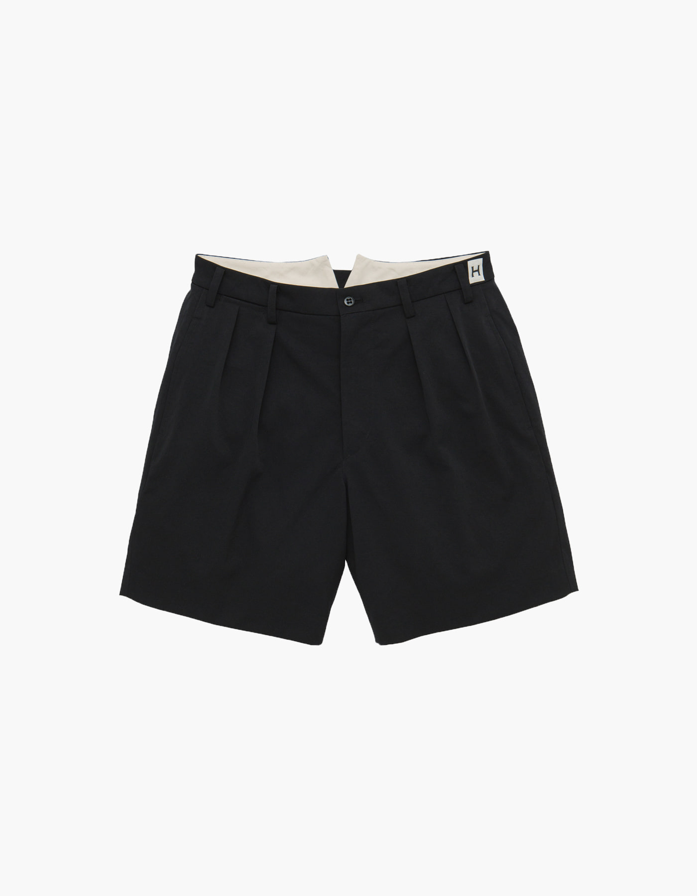 NYLON CHINO CLOTH SHORTS / BLACK