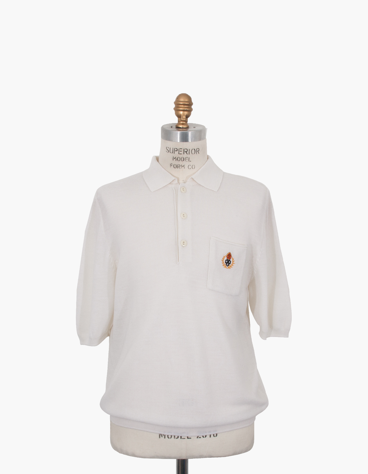 HFC CREST POLO SHIRTS / WHITE