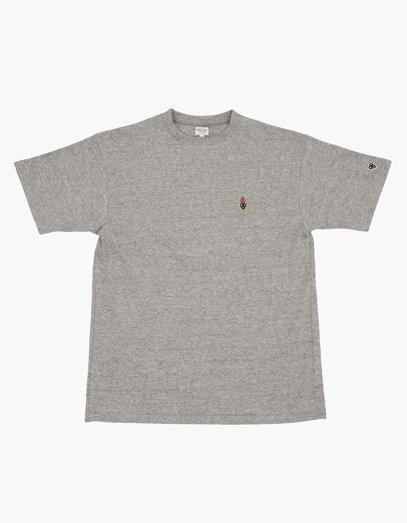 HFC CREST 10S COMPACT YARN T-SHIRT / M.GREY