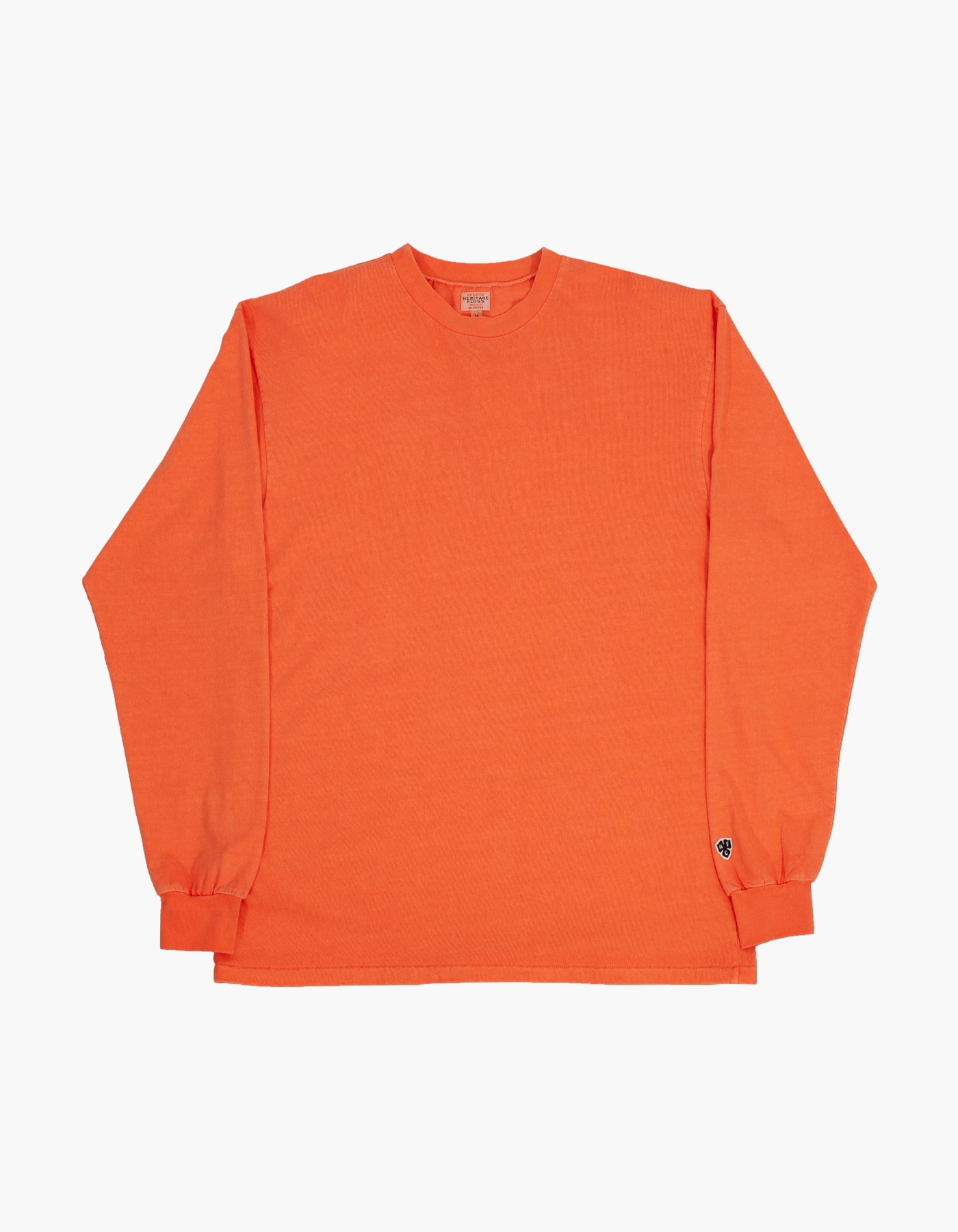PIGMENT COMPACT YARN LONG SLEEVE / ORANGE