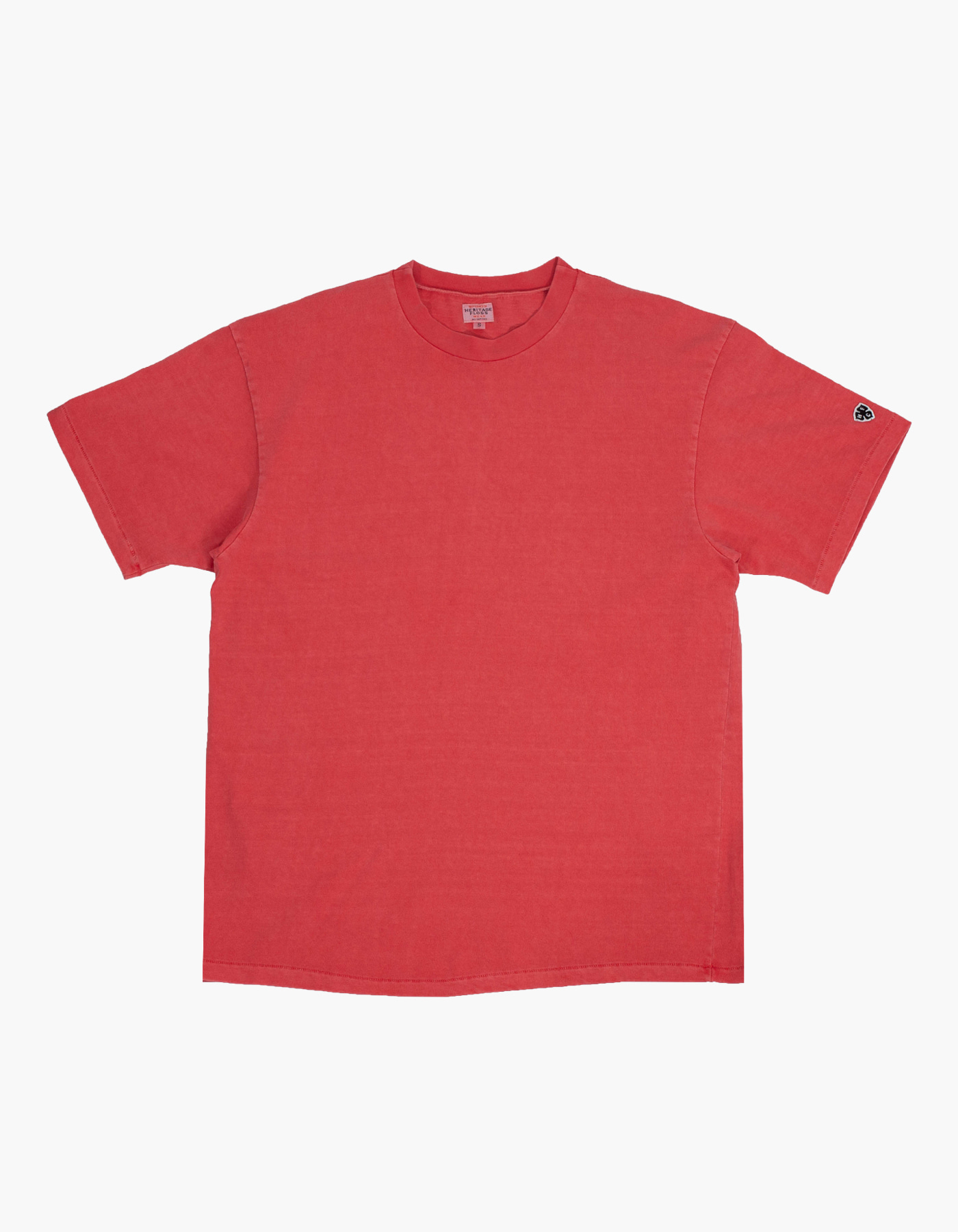 PIGMENT COMPACT YARN T-SHIRTS / RED