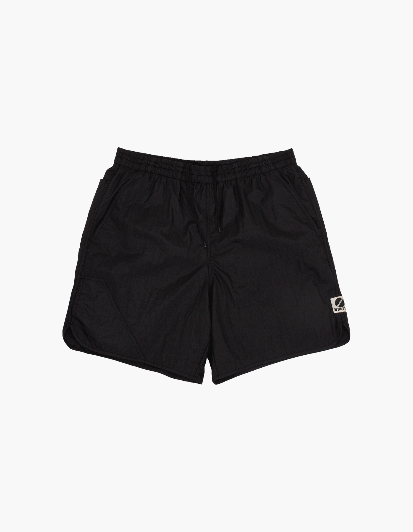 NYLON DIAMOND WASHER SHORTS / BLACK