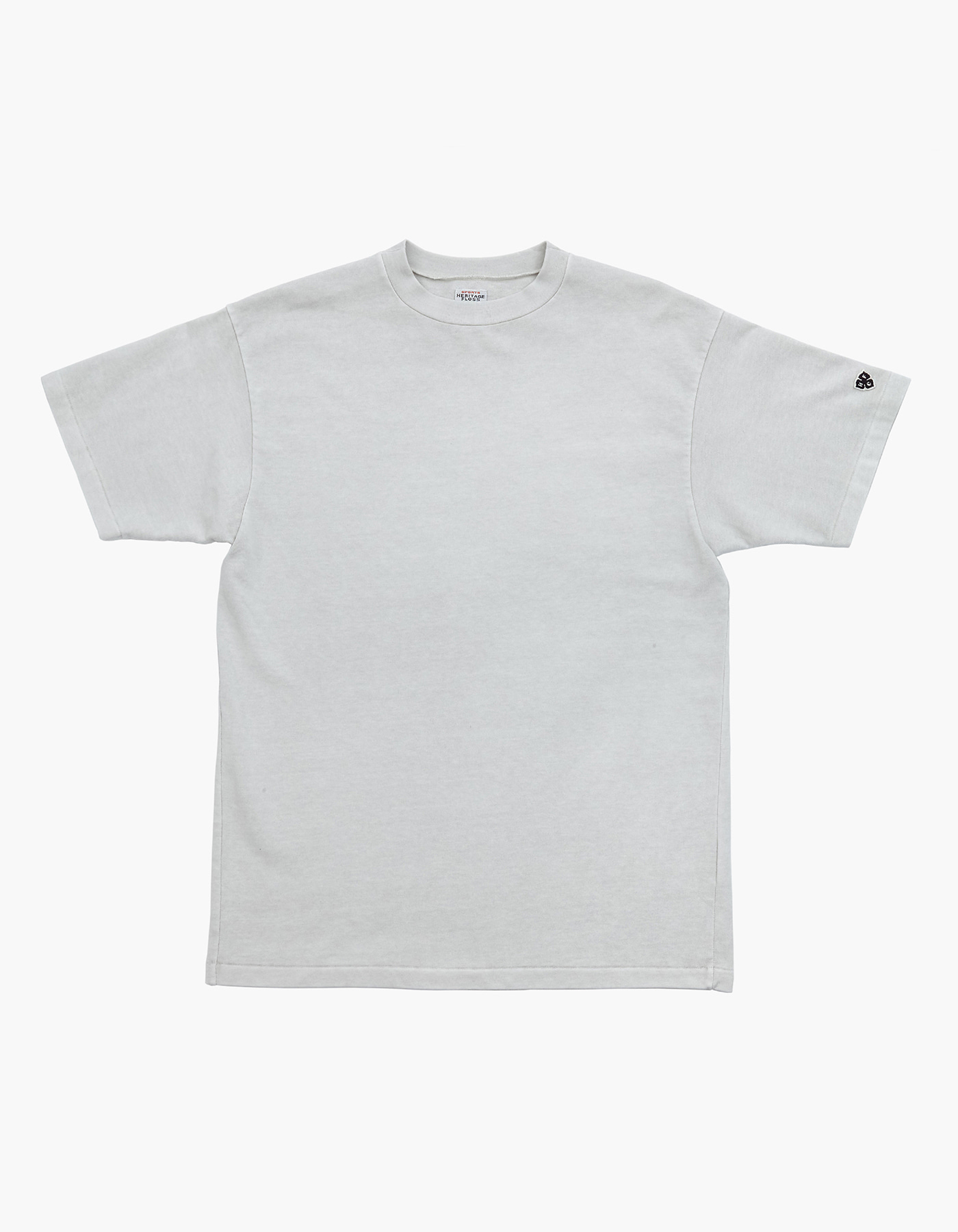 10S COMPACT YARN T-SHIRT / LIGHT GREY
