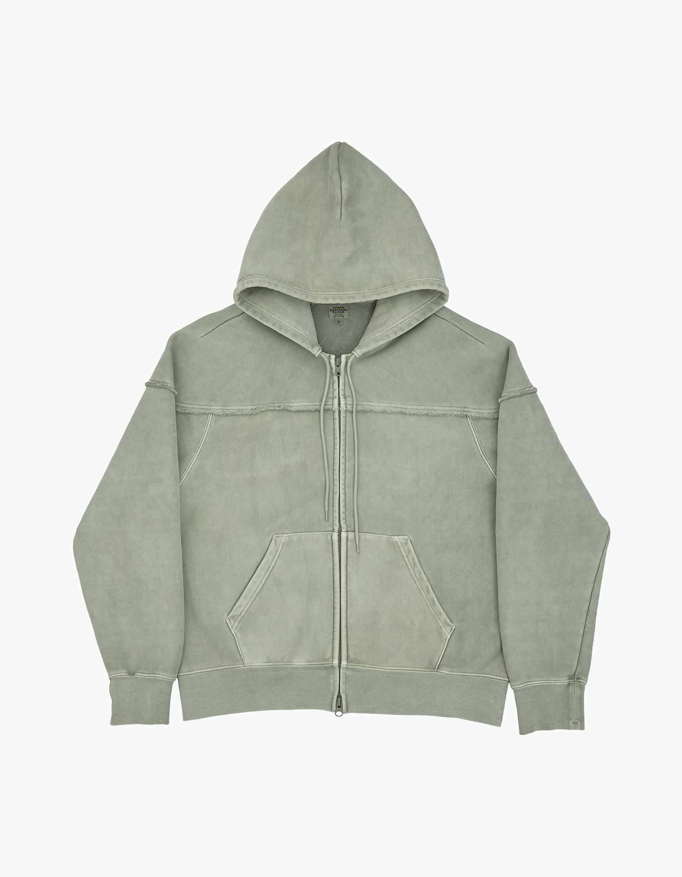 221 PIGMENT ZIP-UP / JADE