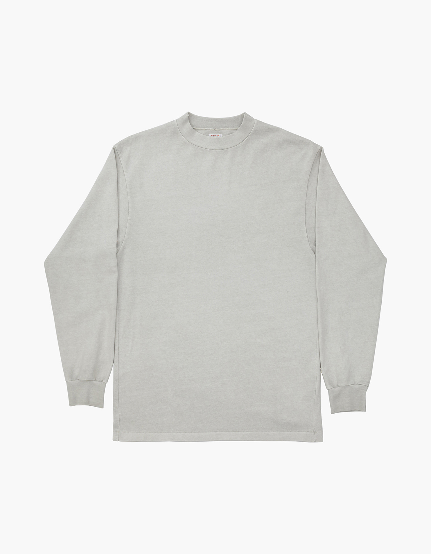 10S COMPACT YARN MOC-NECK / LIGHT GREY