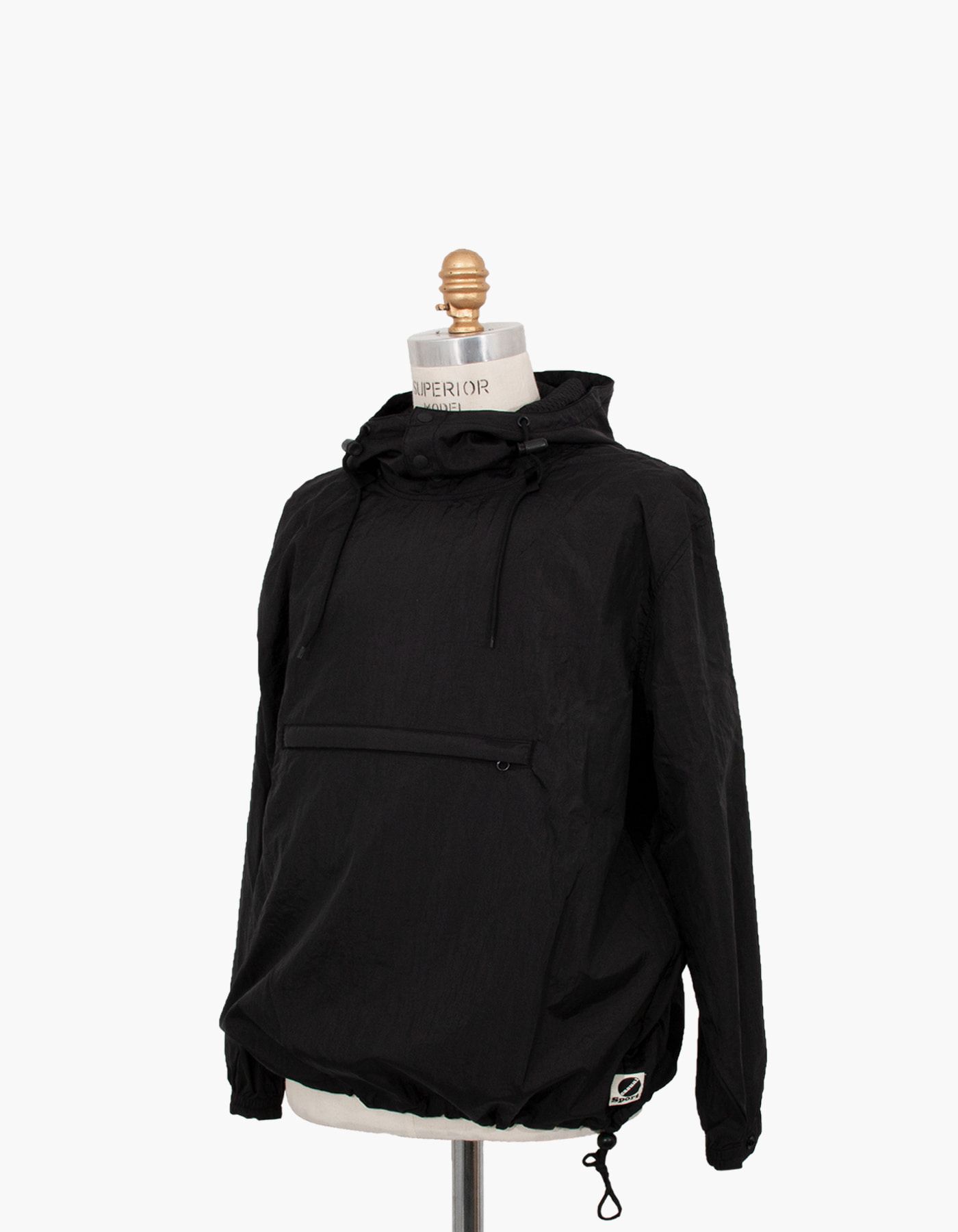 NYLON DIAMOND WASHER ANORAK / BLACK