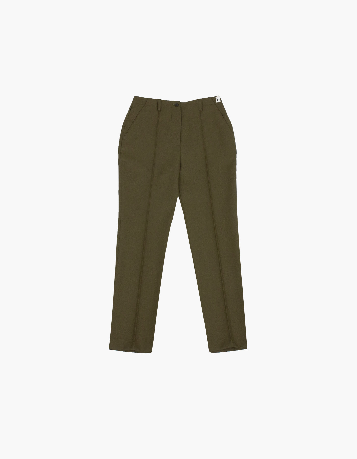 851 PIN TUCK CHINO PANTS (W) / KHAKI