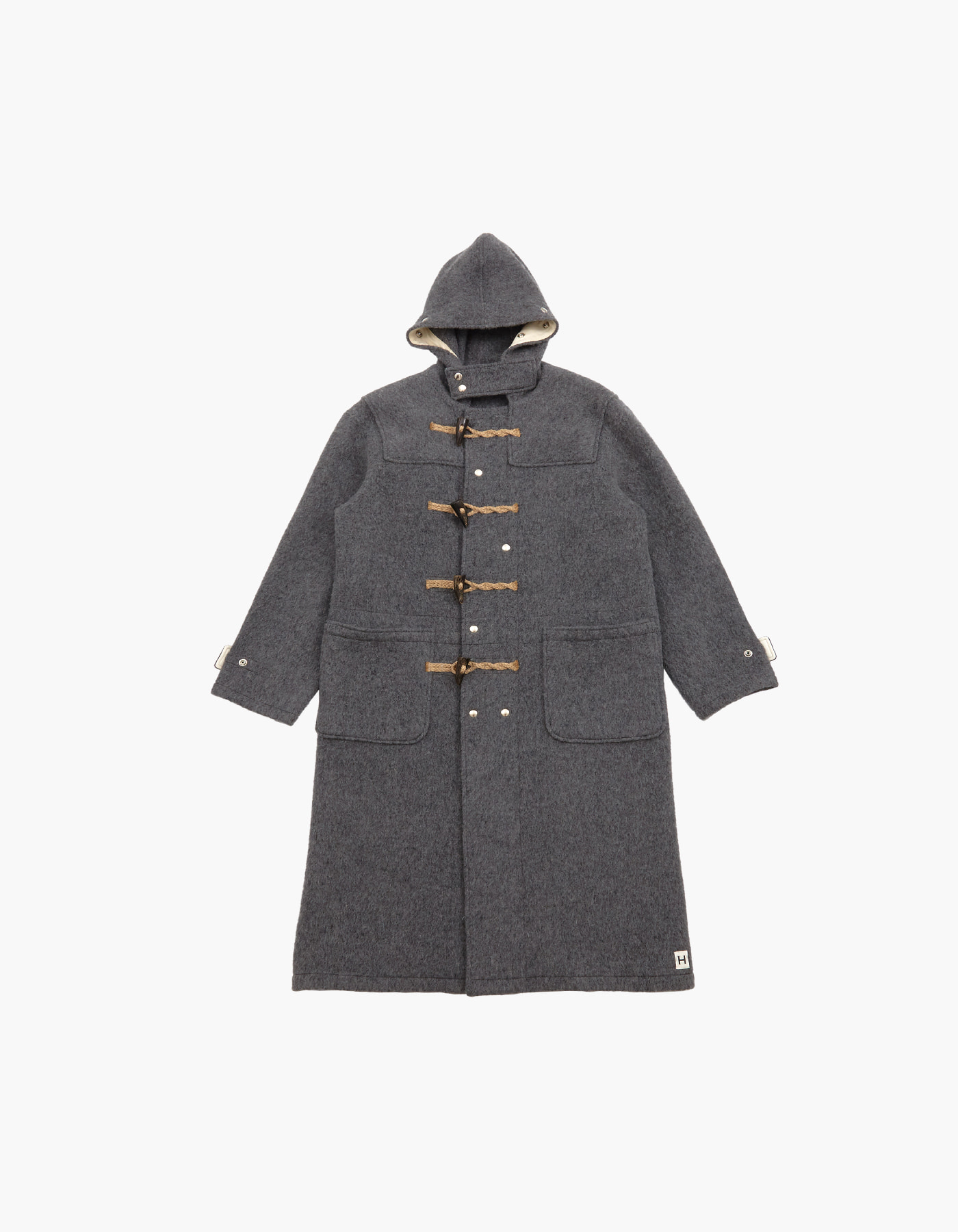 WOOL DUFFLE COAT / GREY