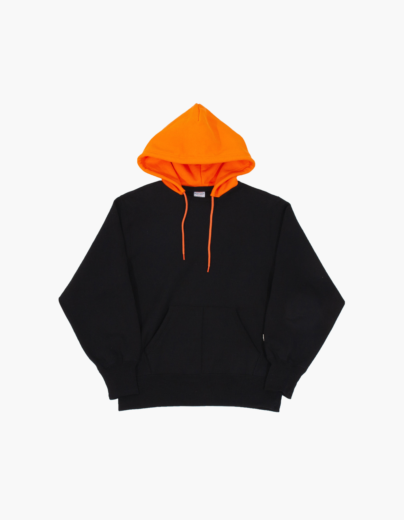 ACS BLOCKED HOODIE / BLACK-ORANGE