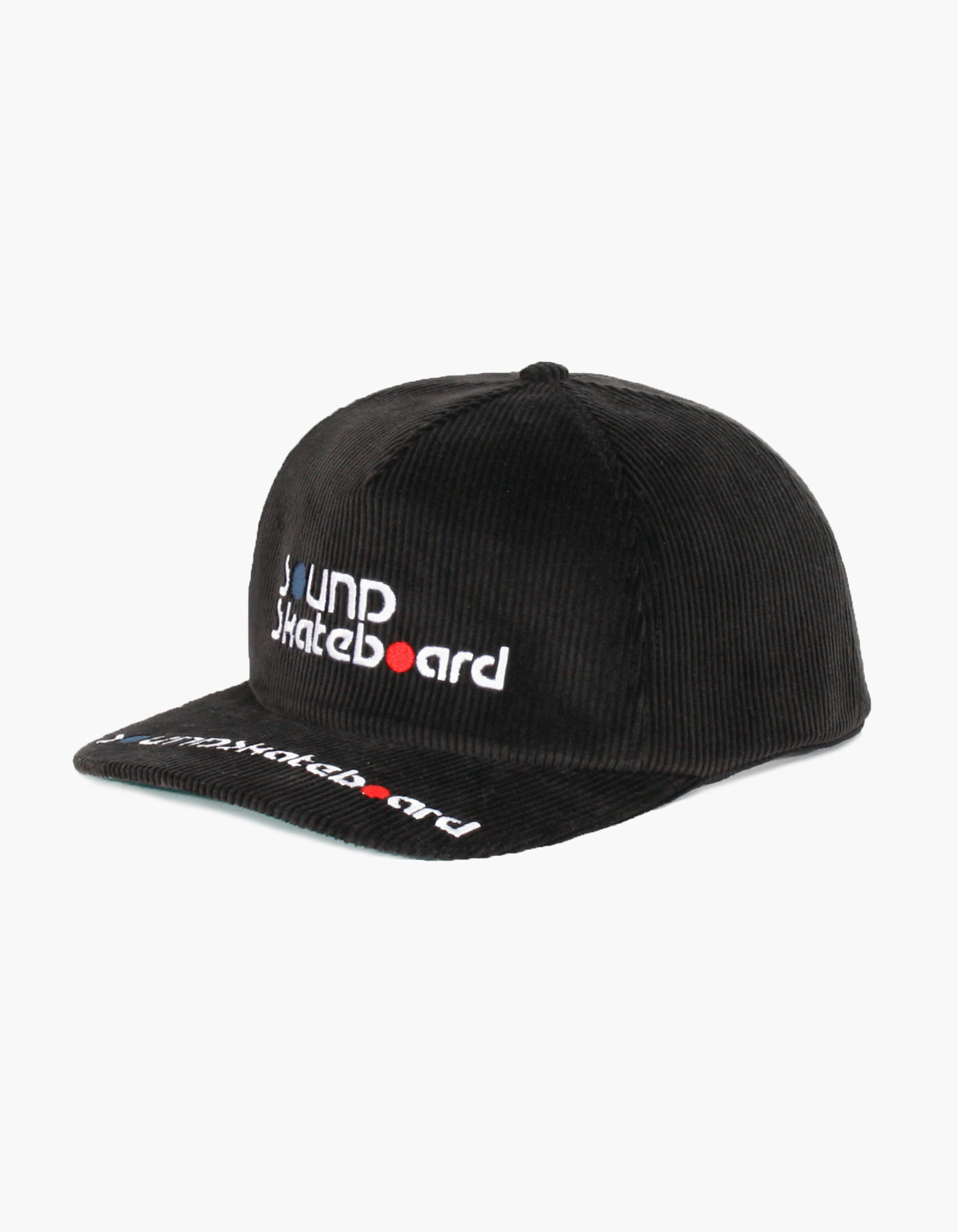 SOUNDSK8 CORDUROY 5 PANEL CAP / BLACK