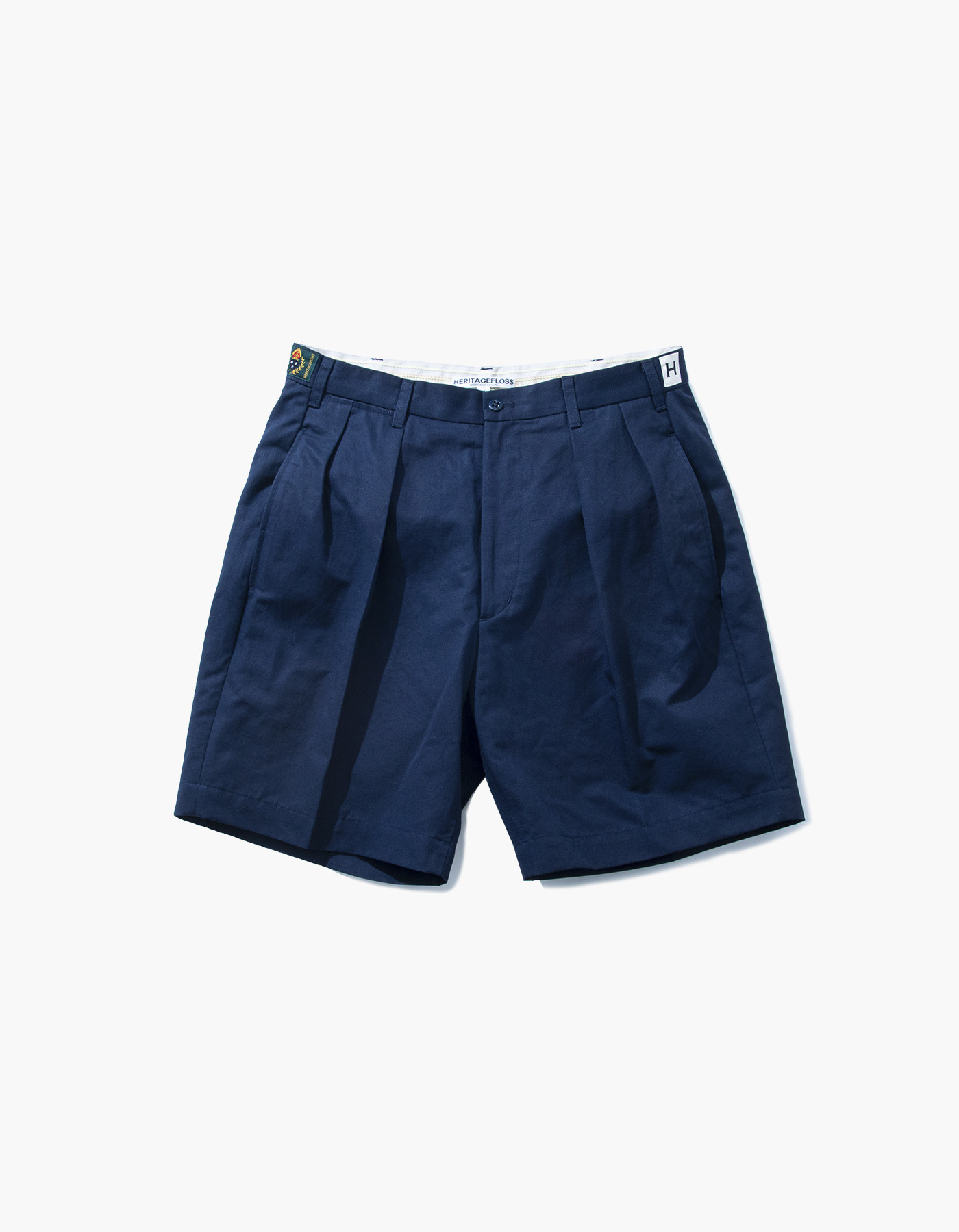 VINTAGE WASHER LINEN CHINO SHORTS / NAVY
