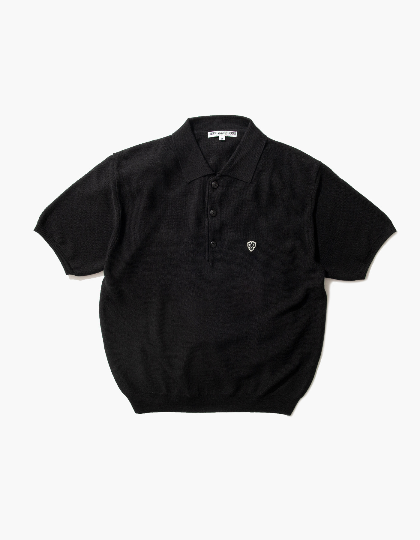 HFC CLOVER POLO SHIRTS / BLACK