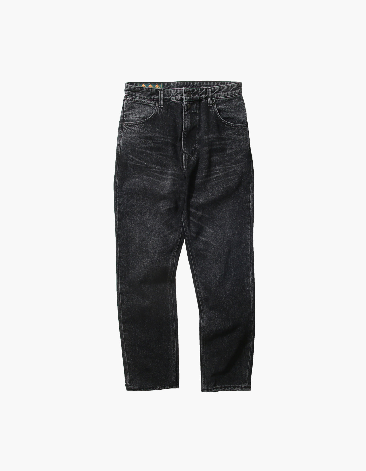 STONE WASHED BAGGY PANTS / BLACK