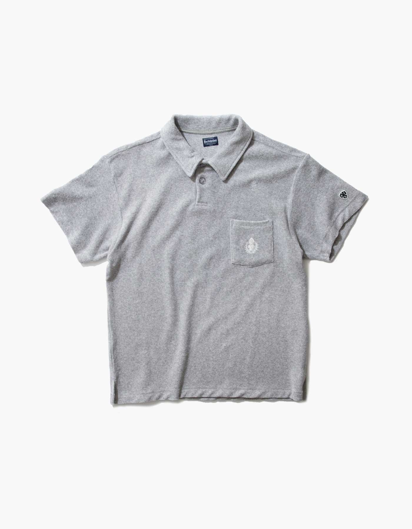 HFC CREST TOWEL POLO SHIRTS / M.GREY(5%)