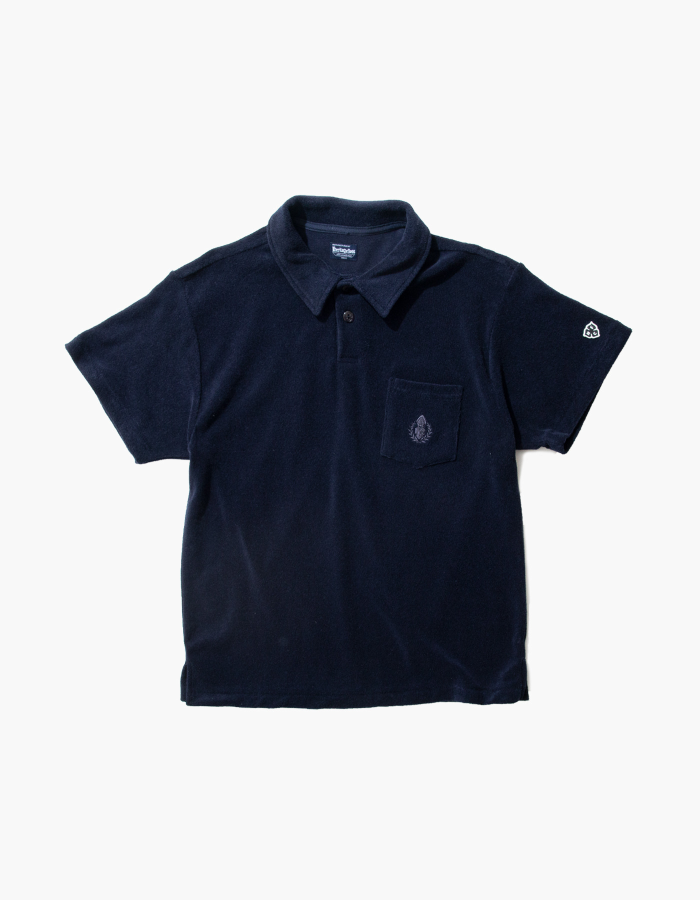 HFC CREST TOWEL POLO SHIRTS / NAVY