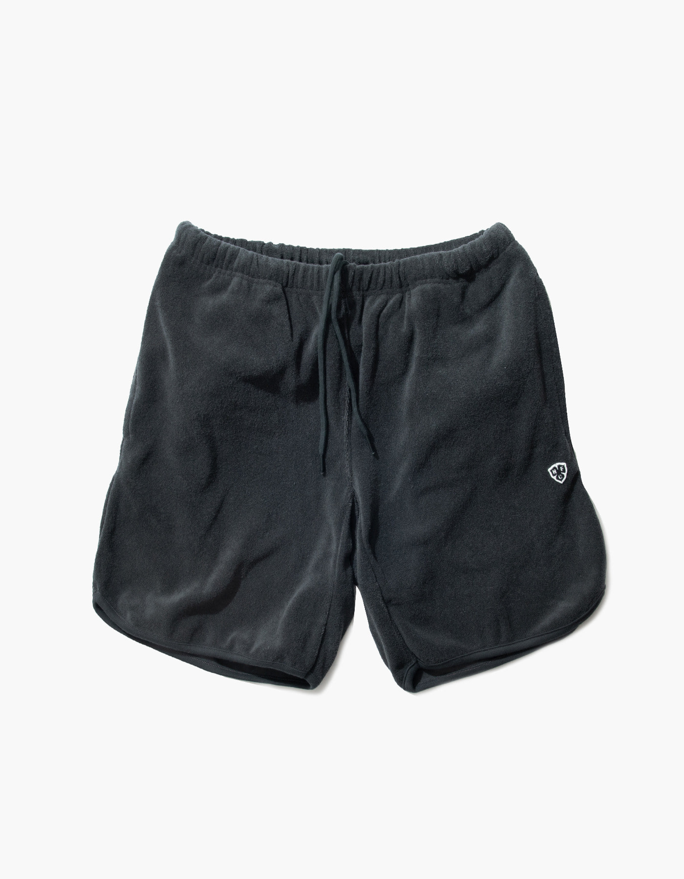 HFC CREST TOWEL SHORTS / CHARCOAL