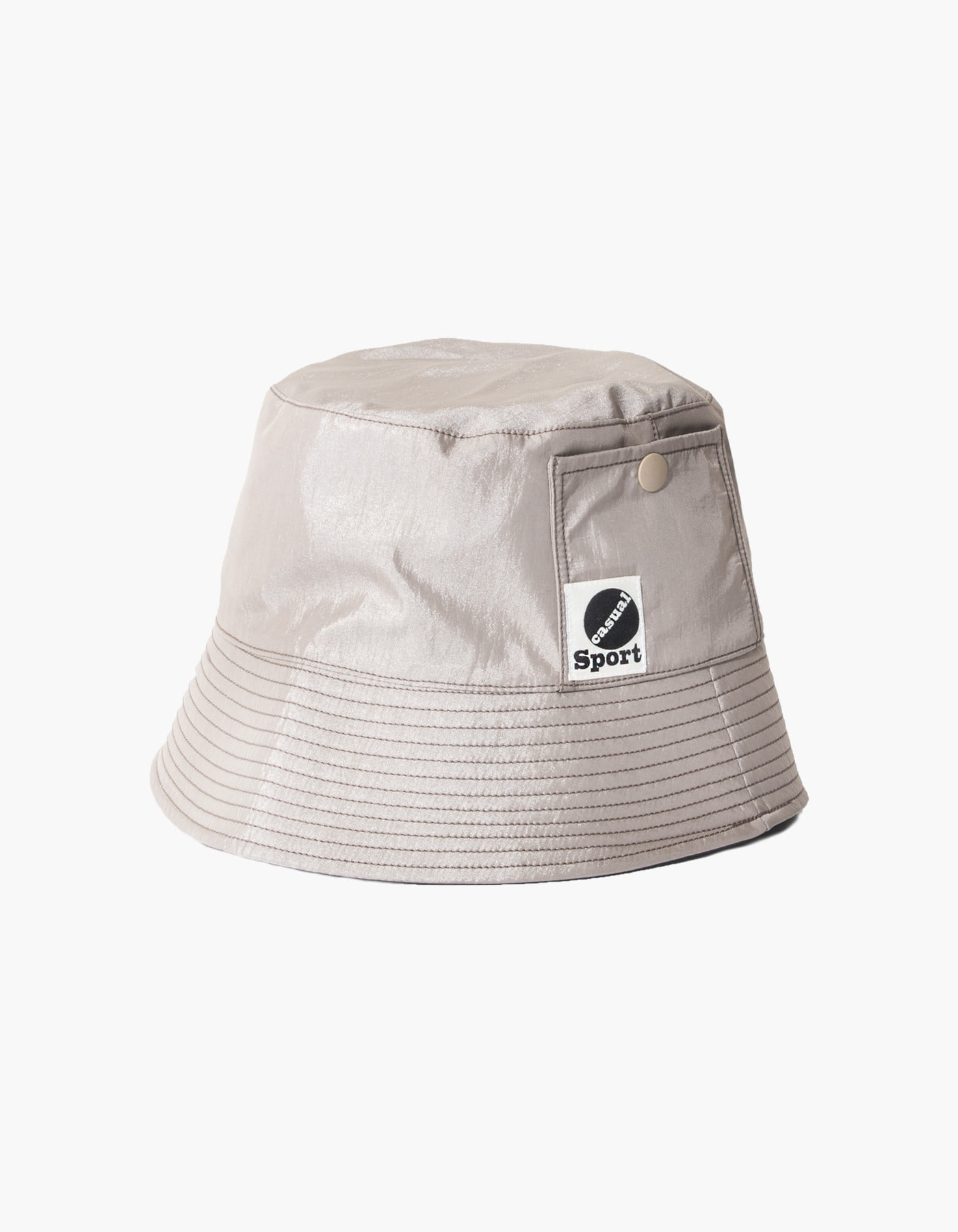 NYLON DIAMOND WASHER BUCKET HAT / BEIGE