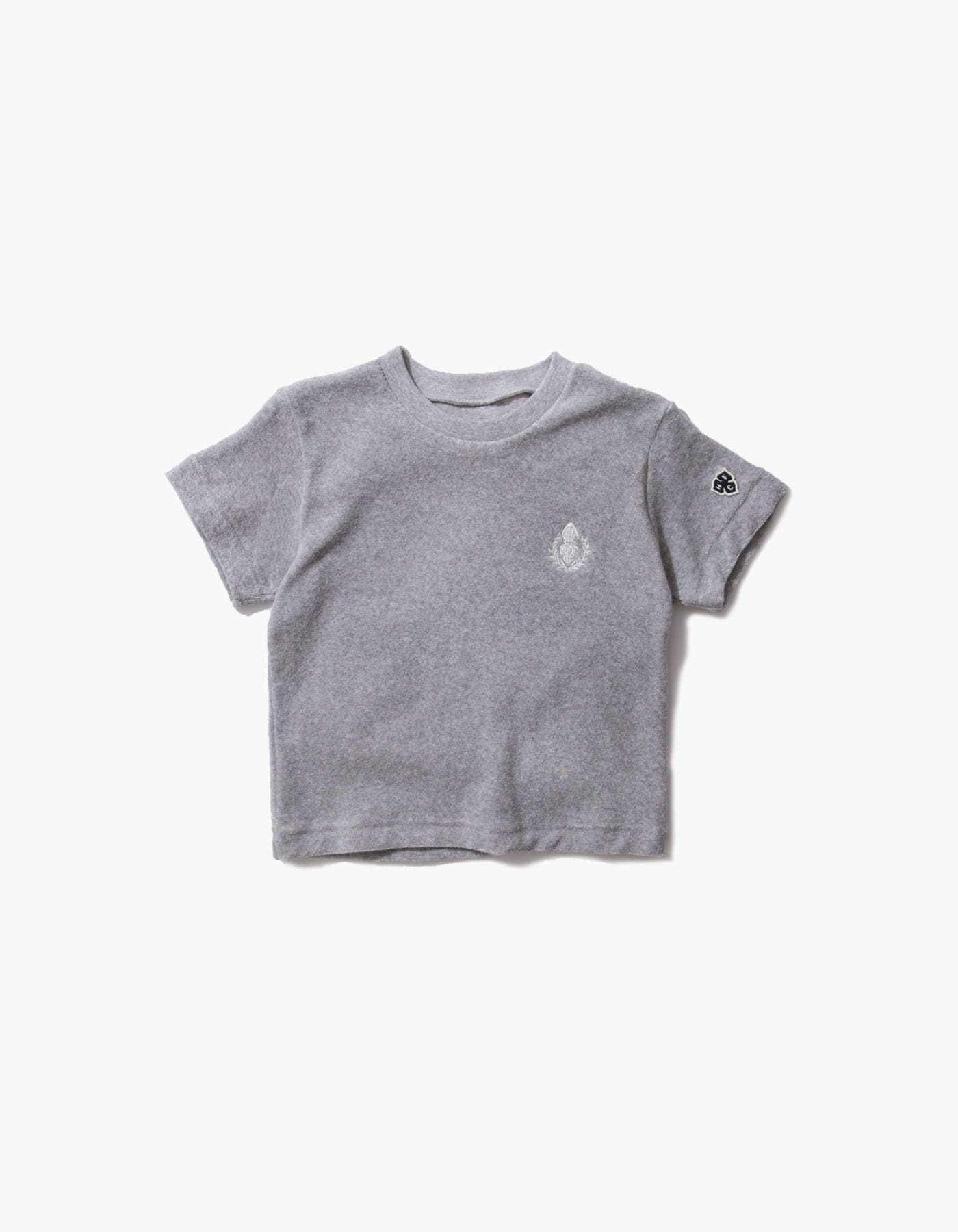 HFC CREST KIDS TOWEL T-SHIRTS / M.GREY(5%)