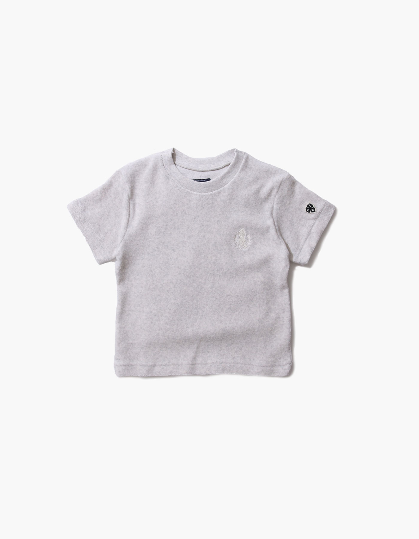HFC CREST KIDS TOWEL T-SHIRTS / M.GREY(1%)