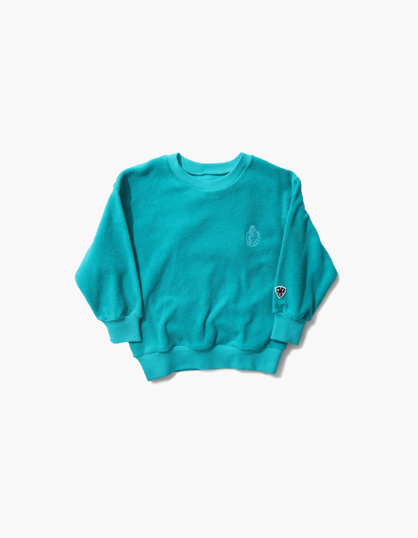 HFC CREST KIDS TOWEL CREWNECK / BLUE GREEN