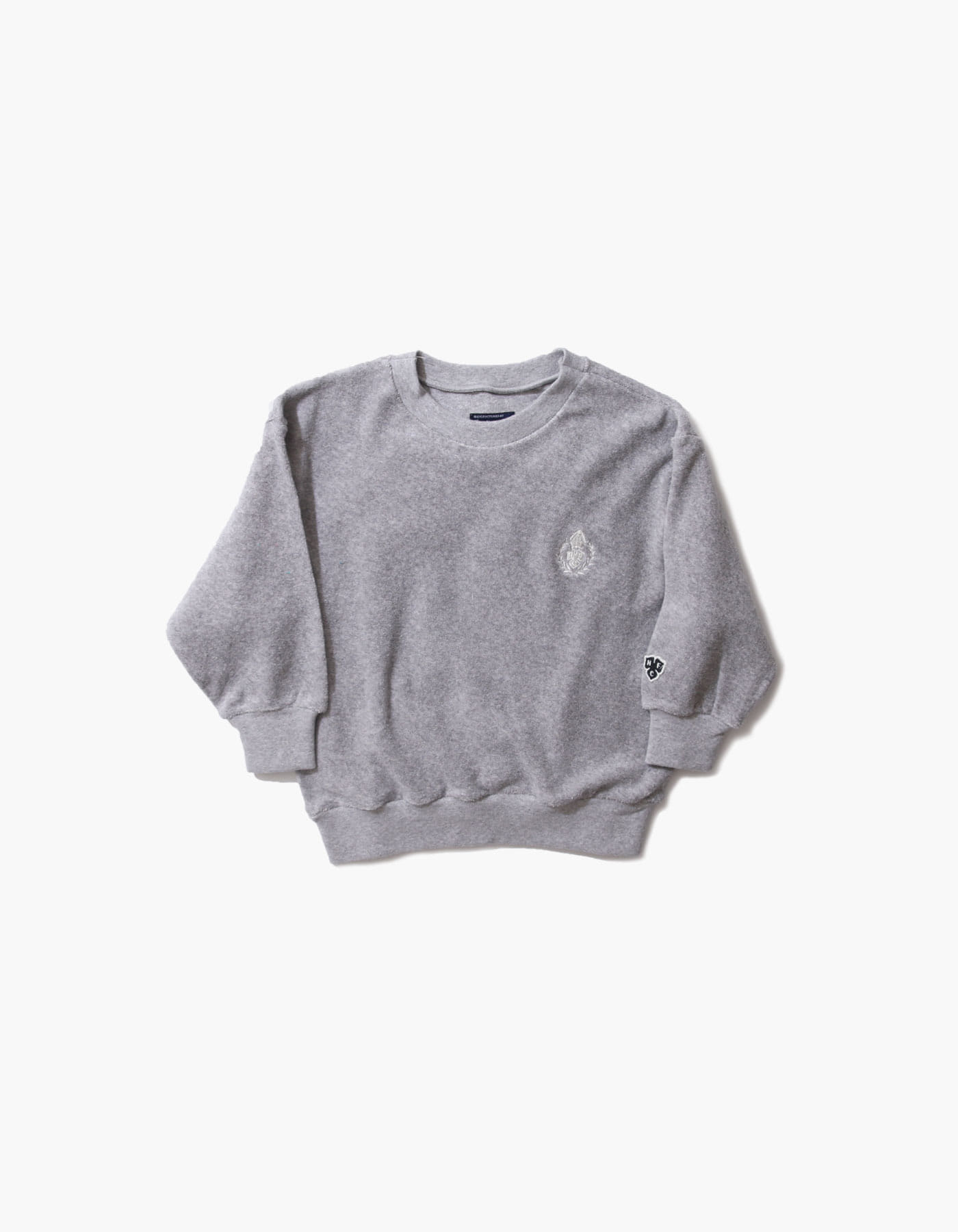 HFC CREST KIDS TOWEL CREWNECK / M.GREY(5%)