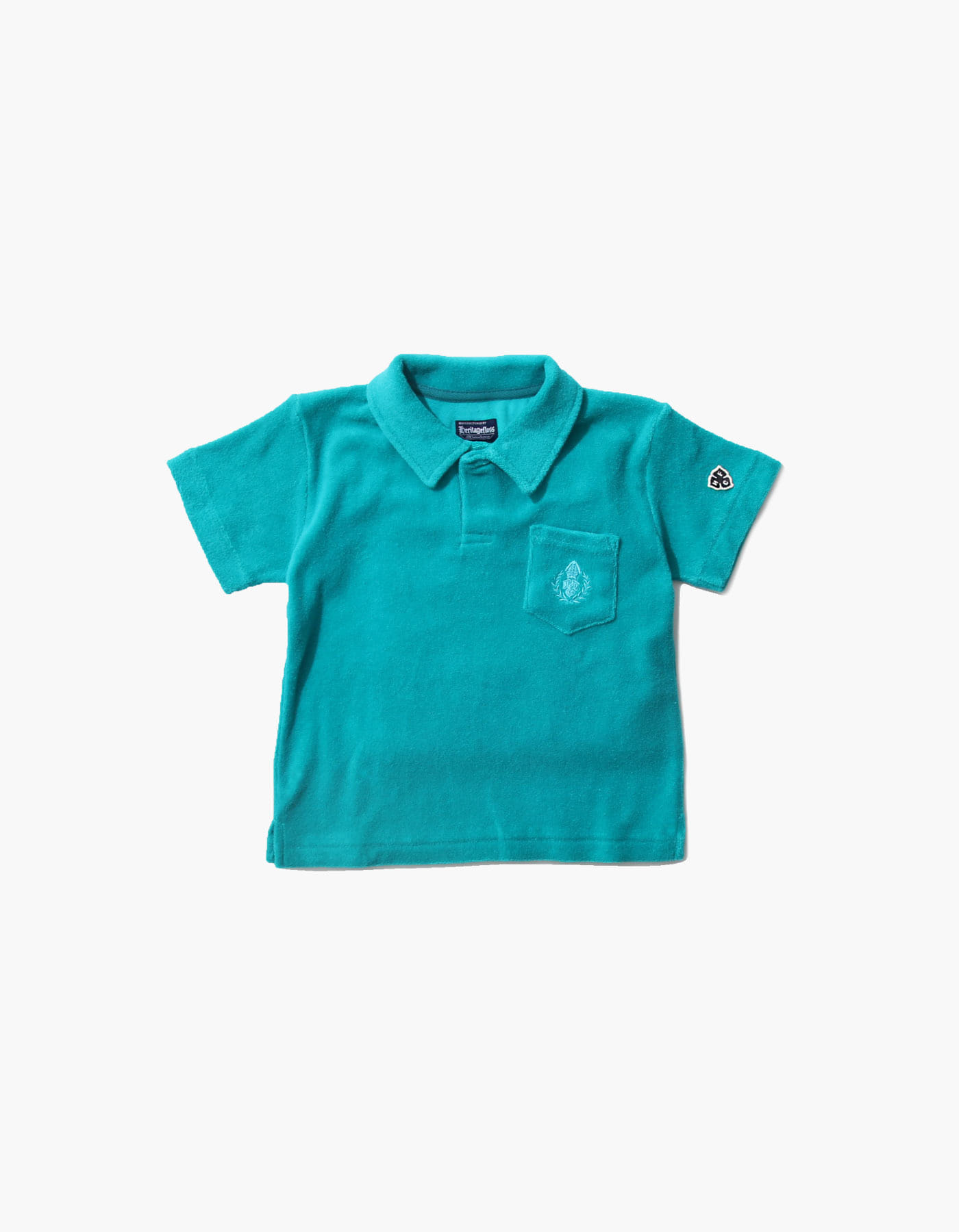 HFC CREST KIDS TOWEL POLO SHIRTS / BLUE GREEN