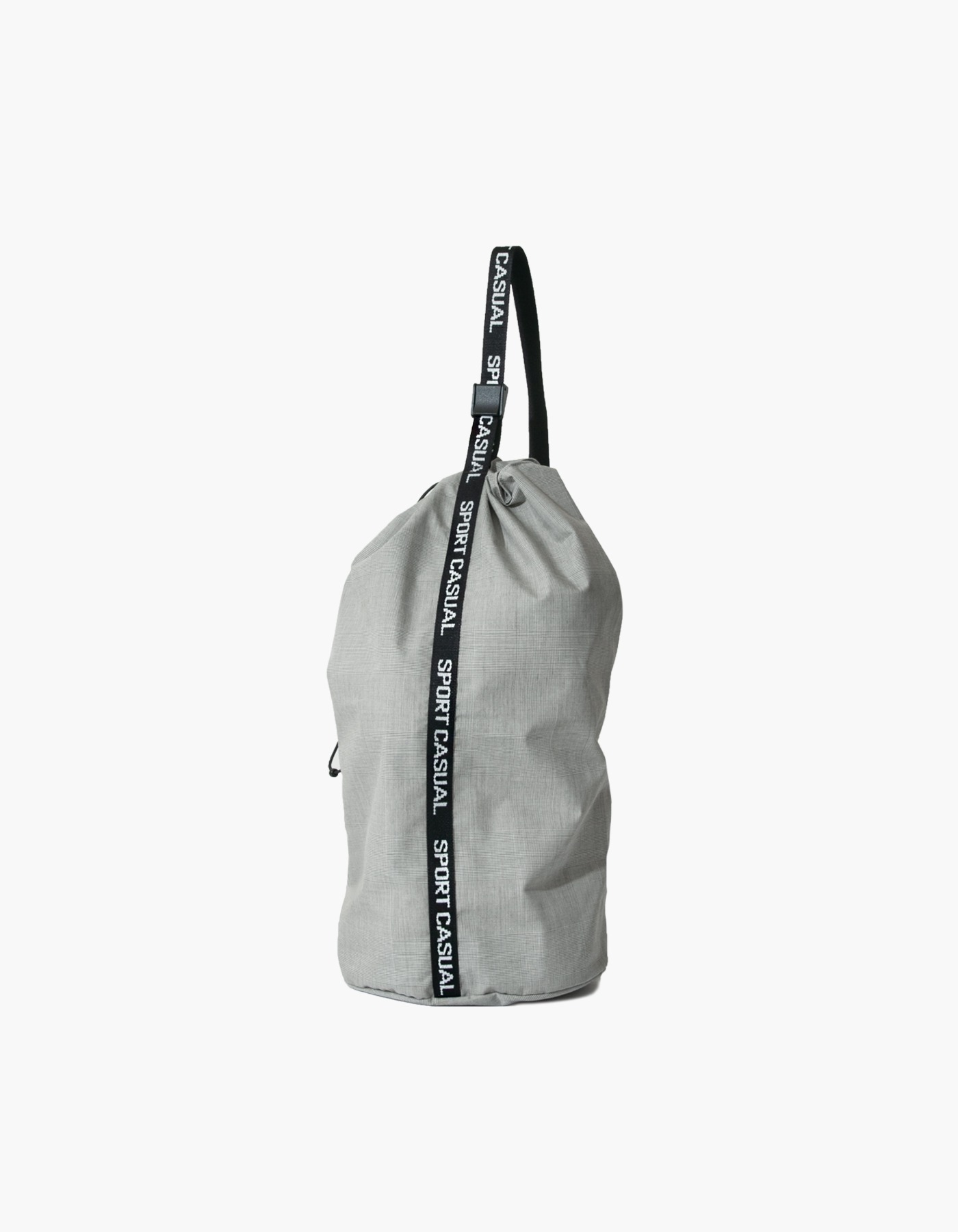 SPORTS BAG / GLEN CHECK GREY