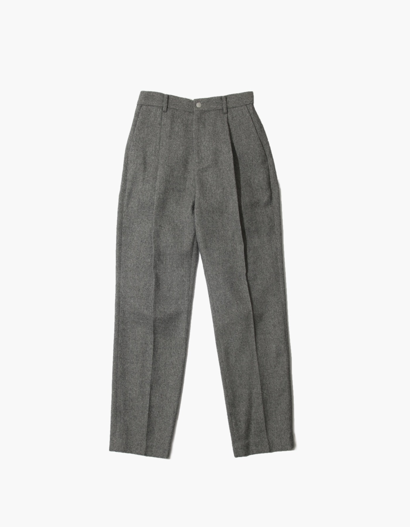 FAUX WOOL PANTS / GREY