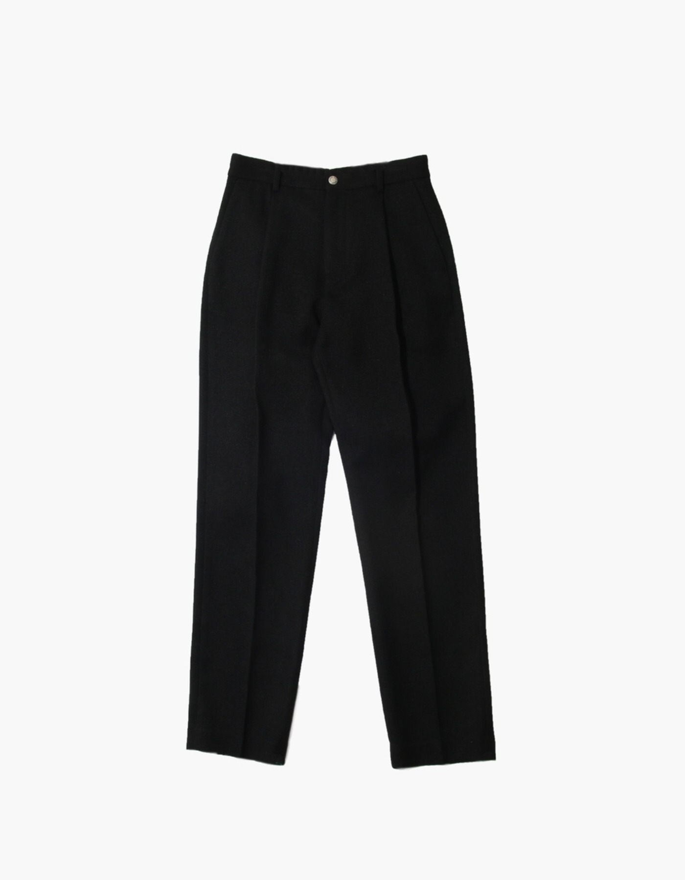 FAUX WOOL PANTS / BLACK