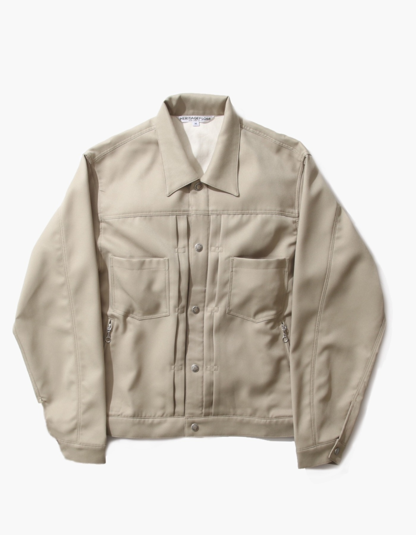 TWILL TRUCKER JACKET / BEIGE