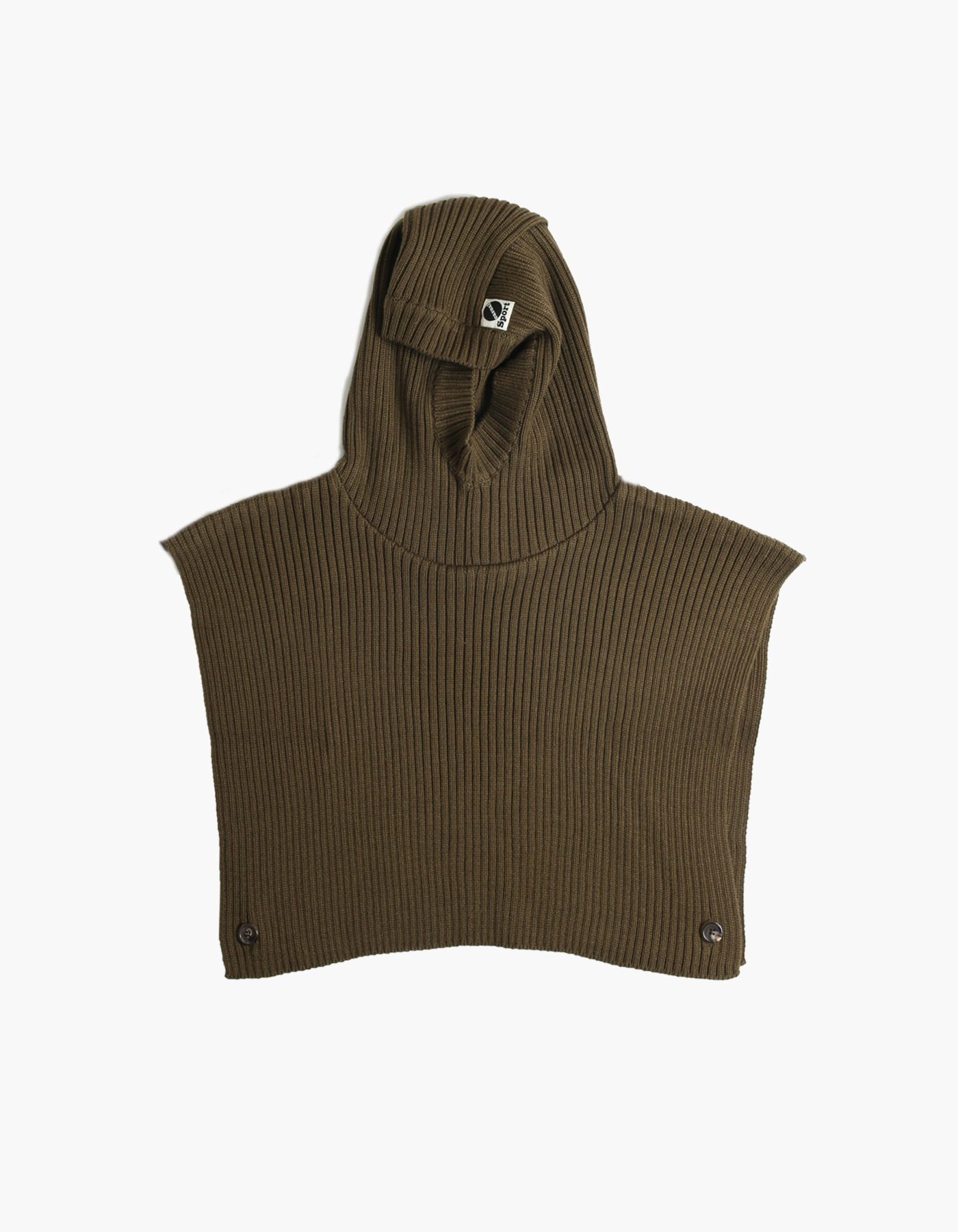 S&C WOOL HOOD WARMER/ KHAKI