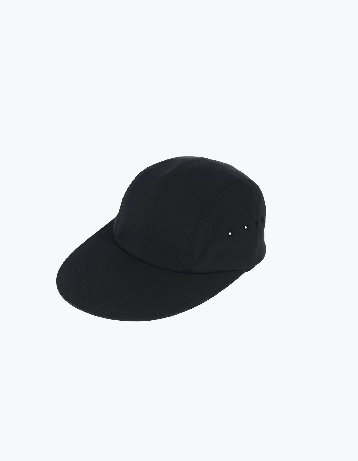 NYLON LONG BILL CAP / BLACK