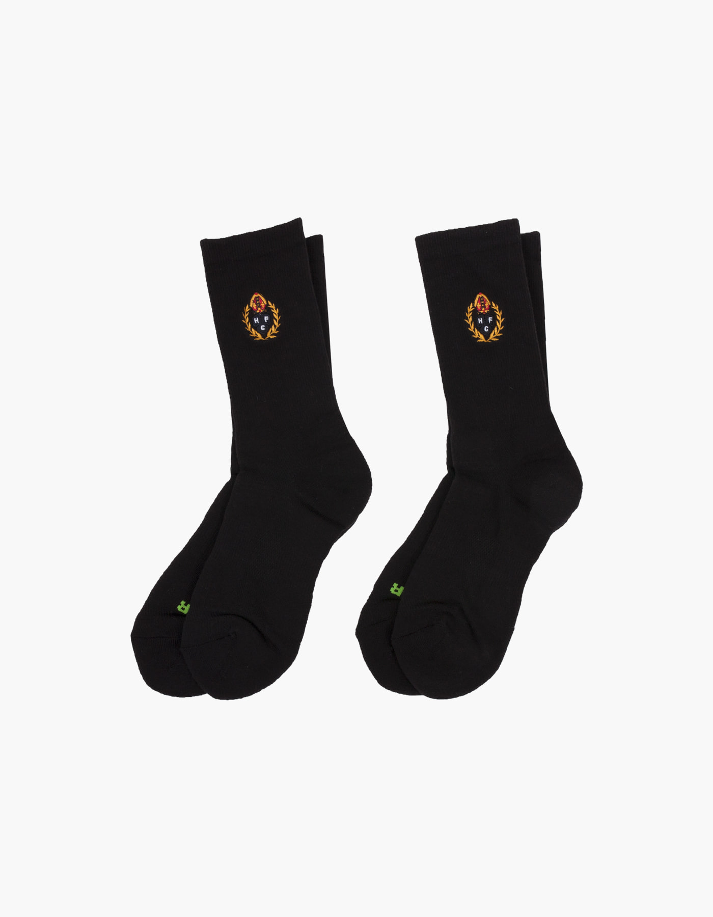 HFC CREST 5 FUNCTION SOCKS (2-PACK) / BLACK