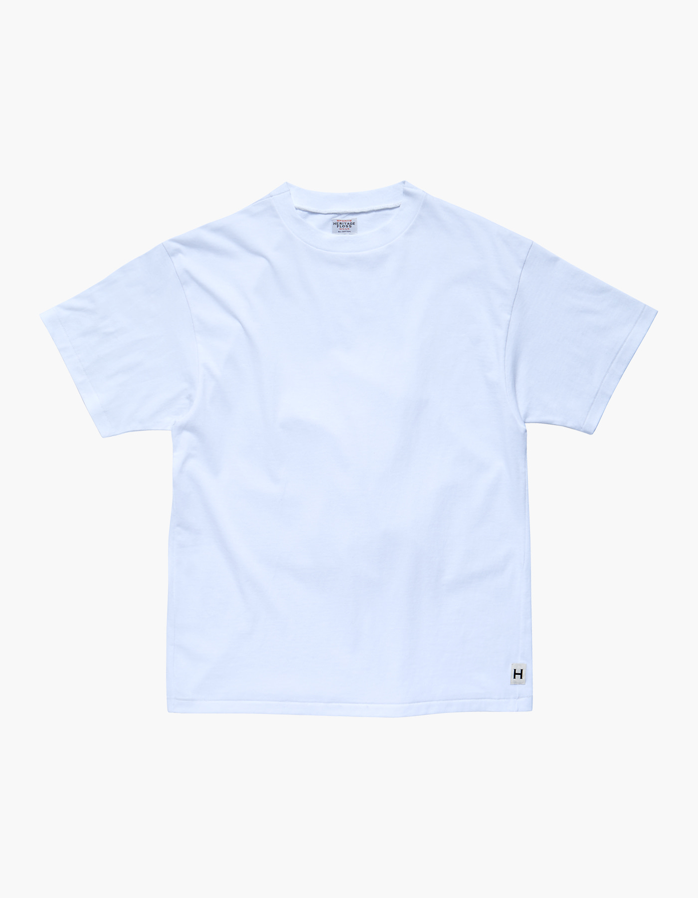 AMERICAN COTTON SINGLE T-SHIRTS / WHITE