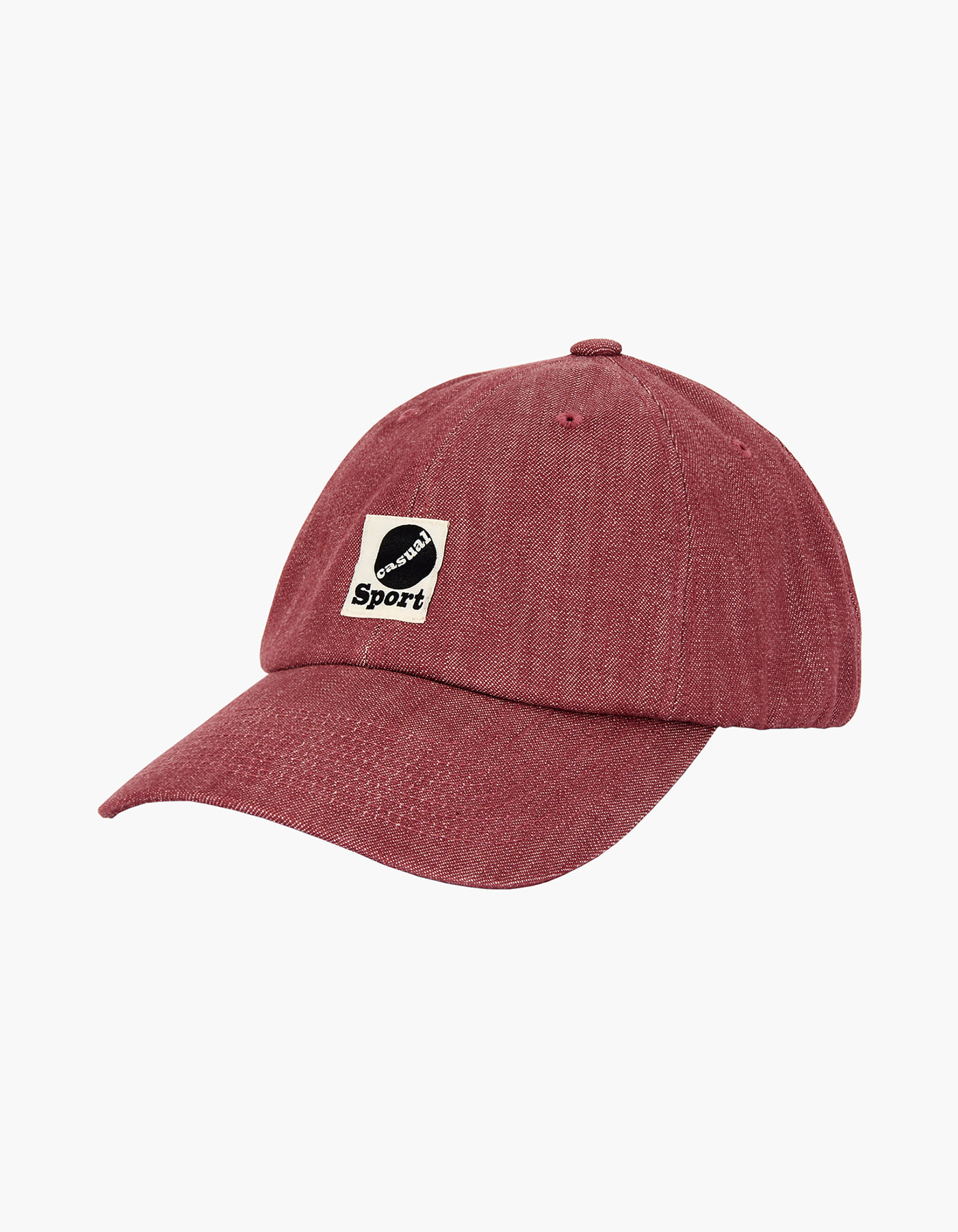 YARN DYED DENIM 6 PANEL CAP / RED