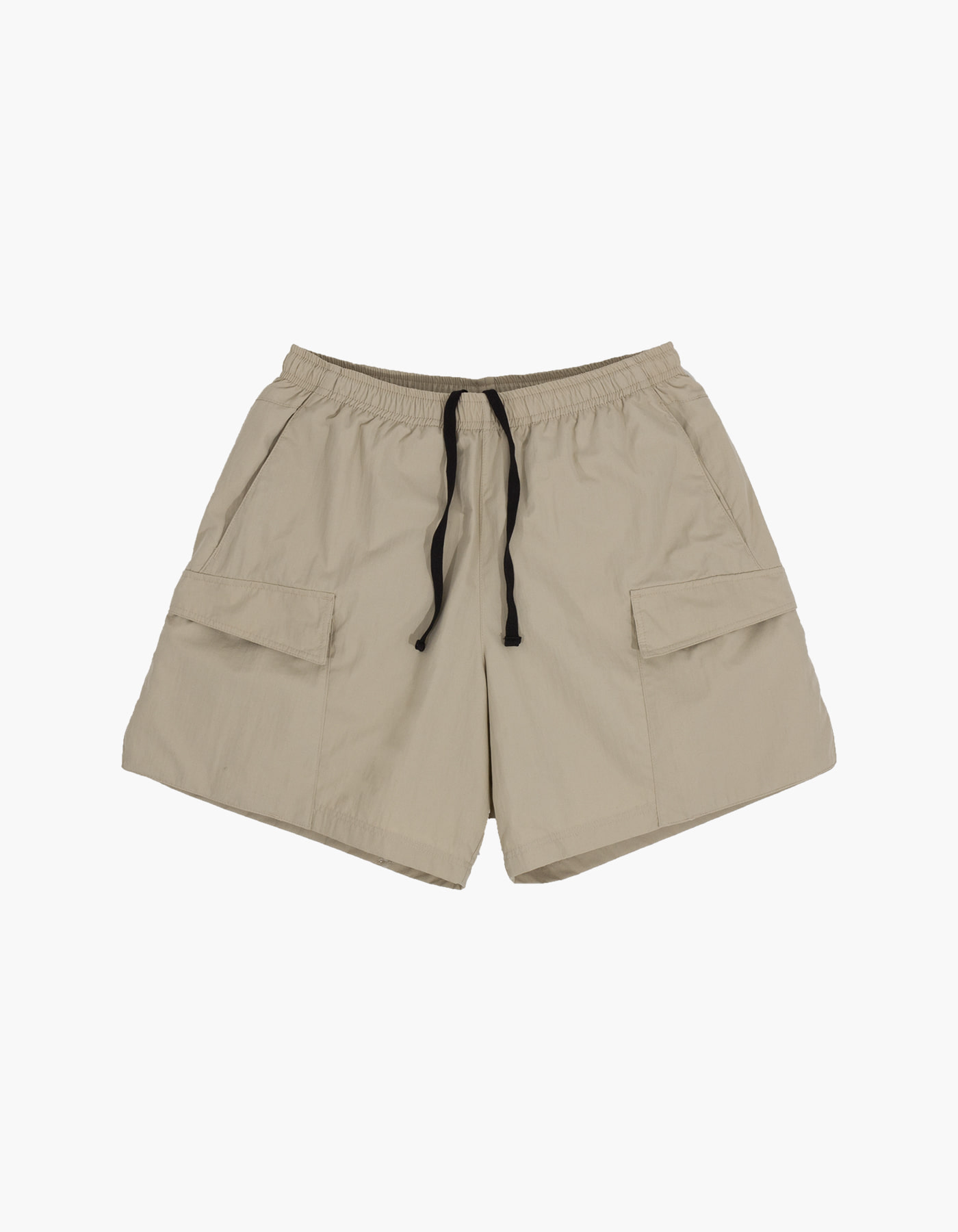 NYLON TAFFETA WASHER SHORTS / BEIGE