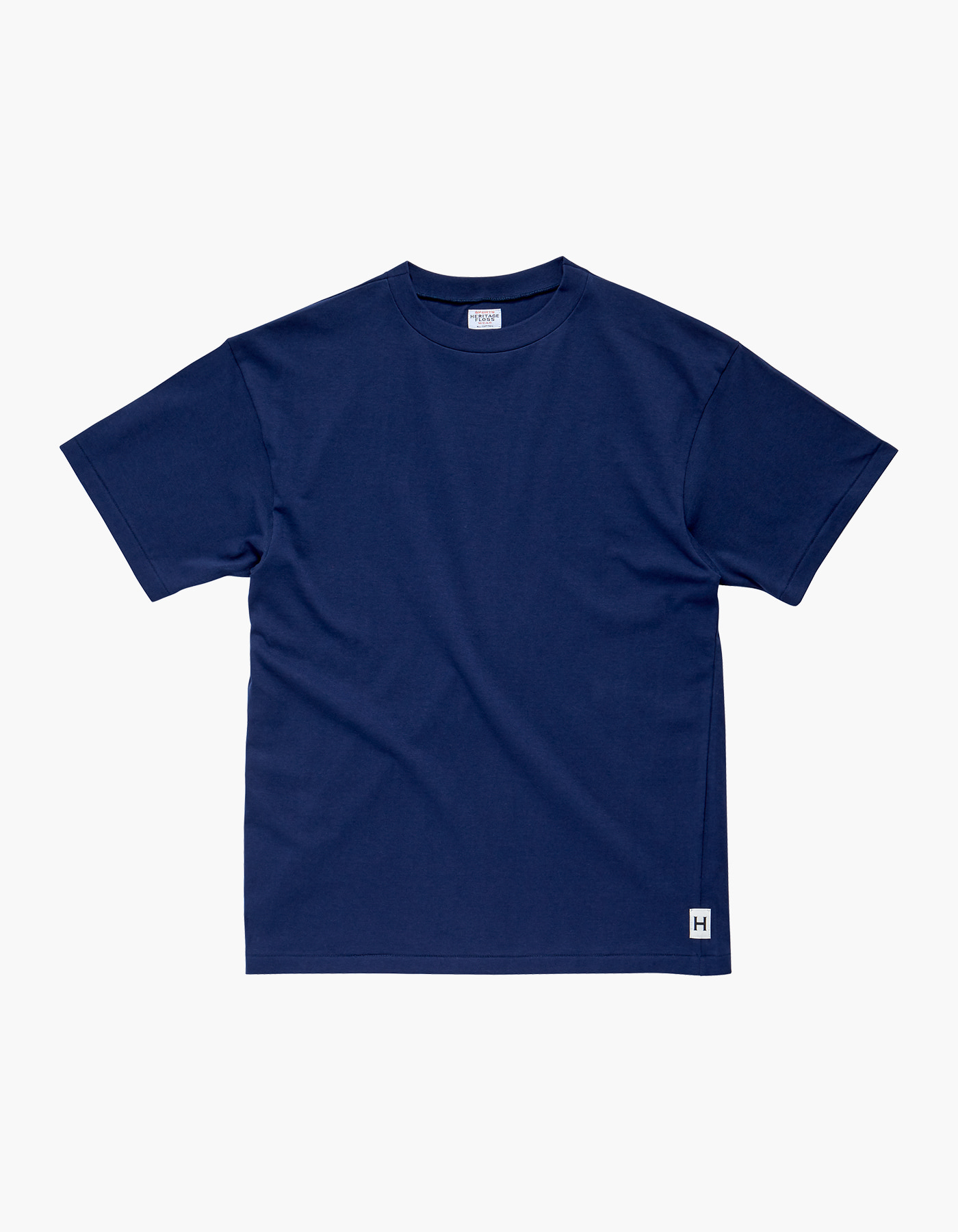 AMERICAN COTTON SINGLE T-SHIRTS / NAVY