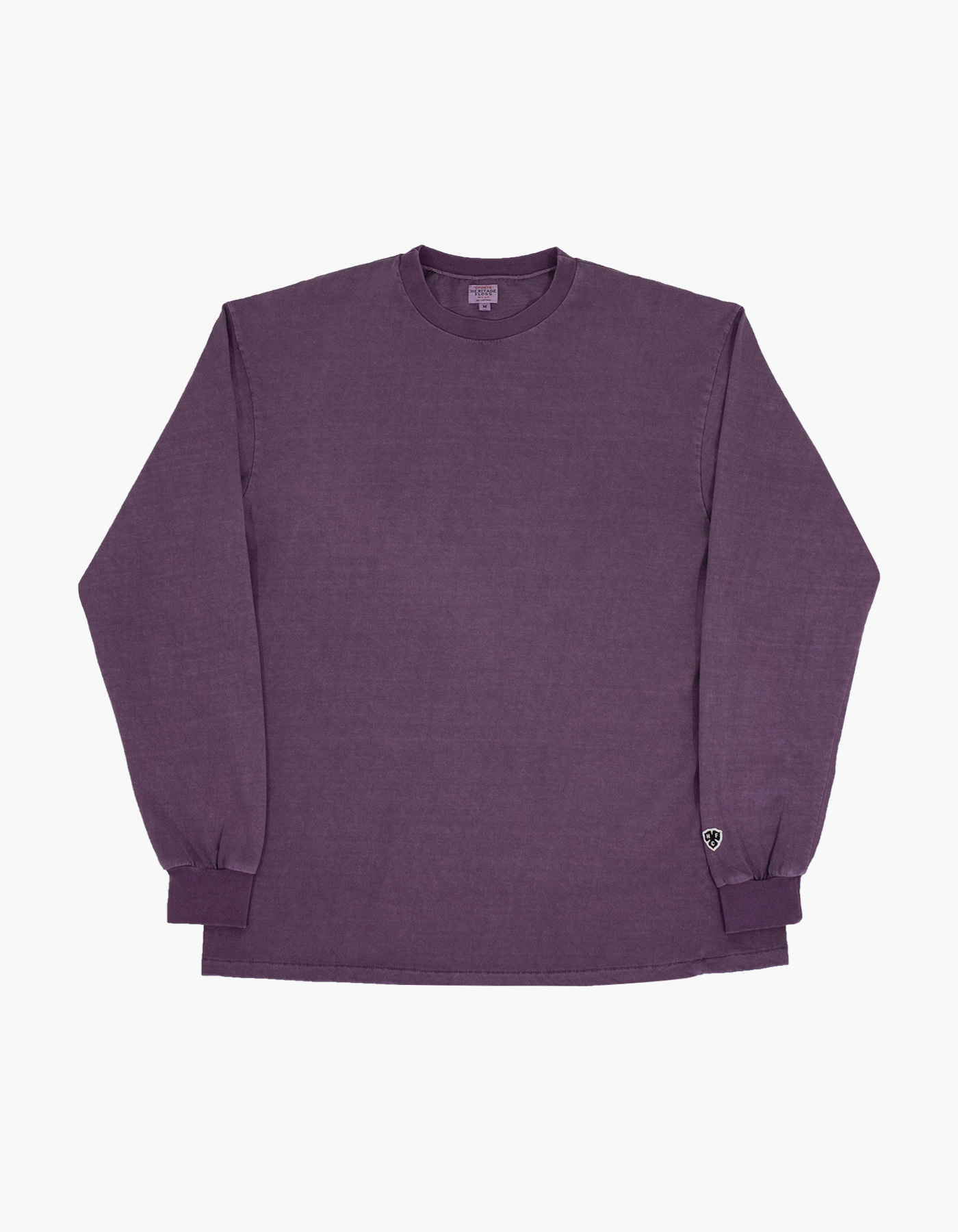 PIGMENT COMPACT YARN LONG SLEEVE / PURPLE