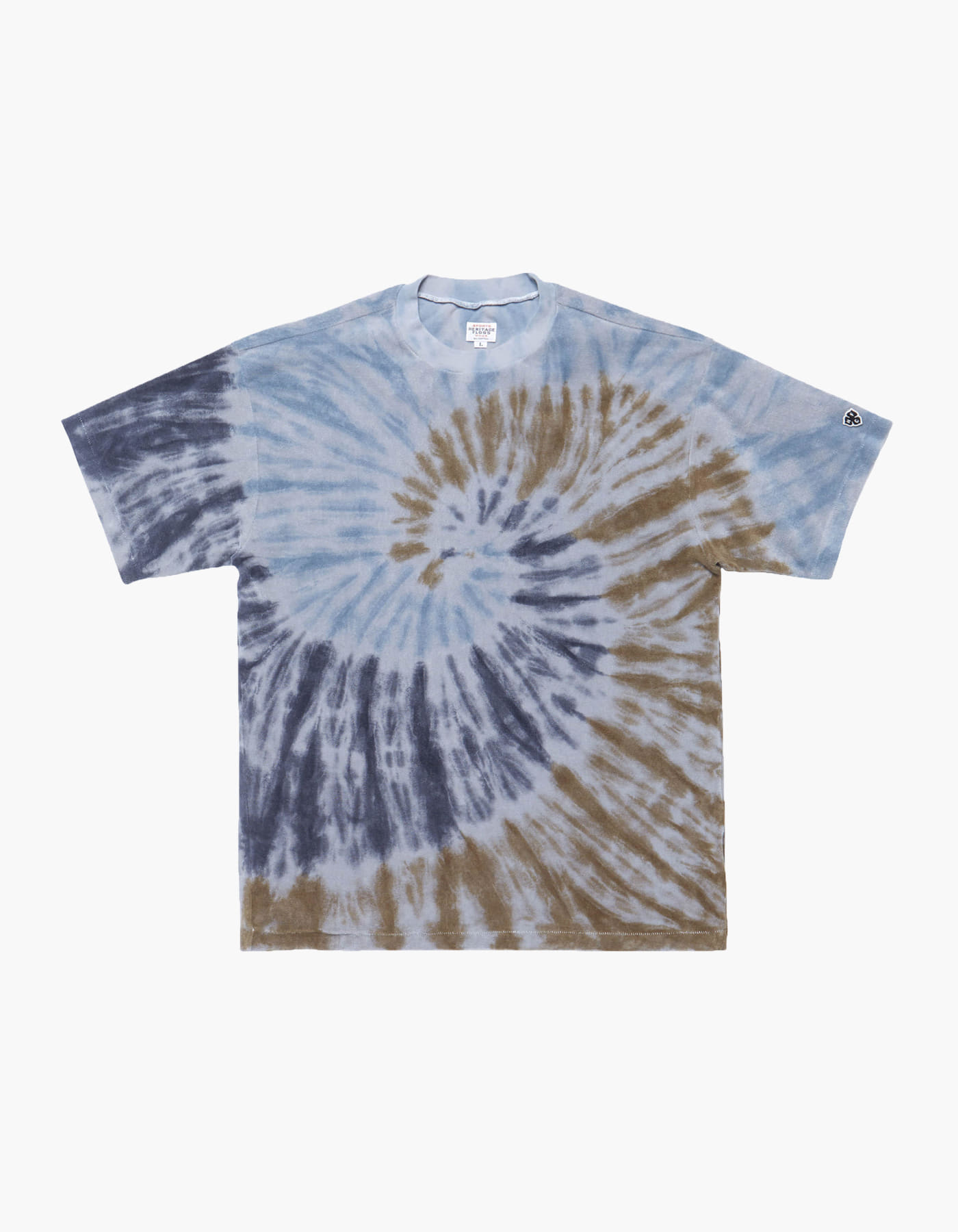 TOWEL GYM TIE-DYE T-SHIRTS / GREY