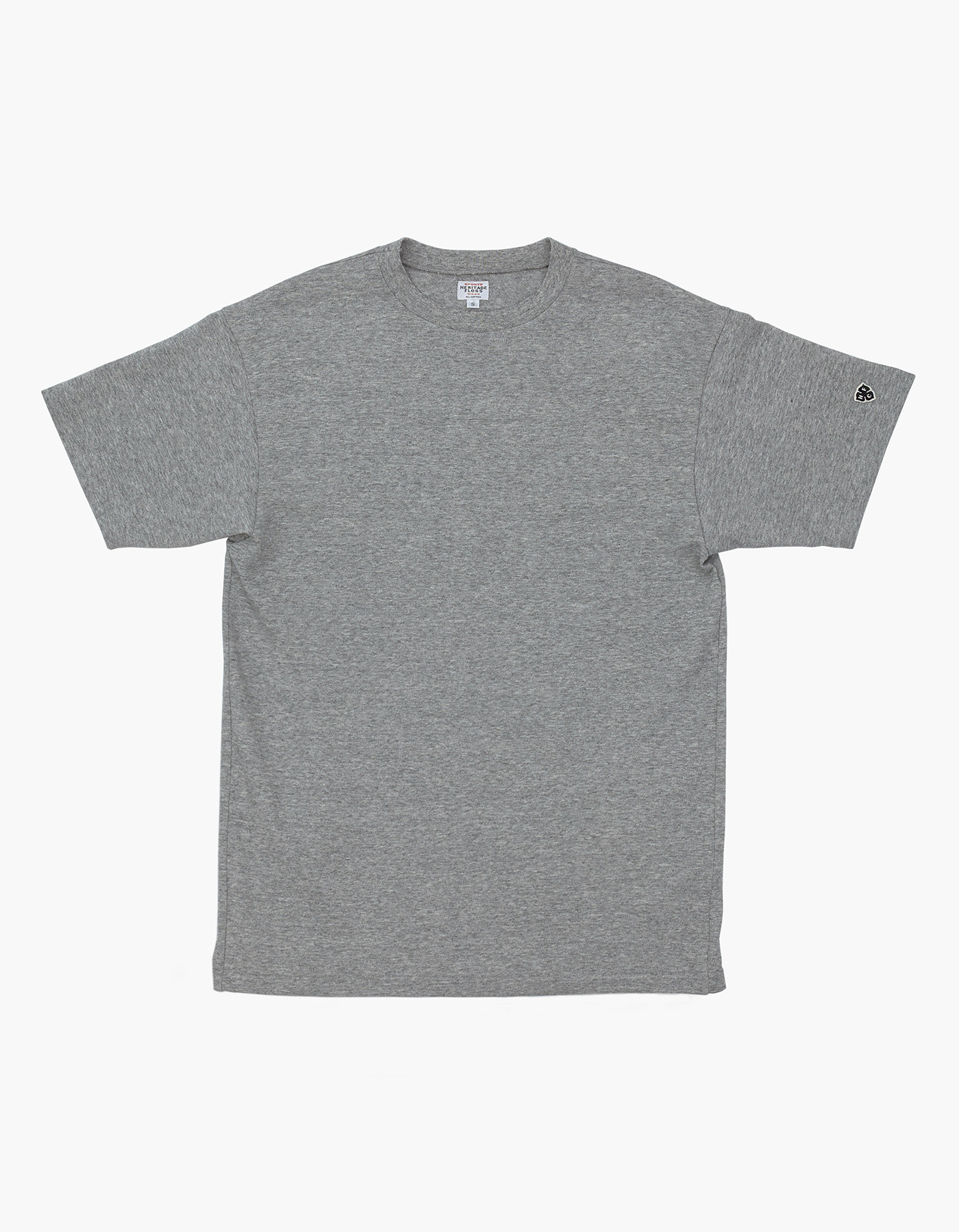 10S COMPACT YARN T-SHIRT / M.GREY