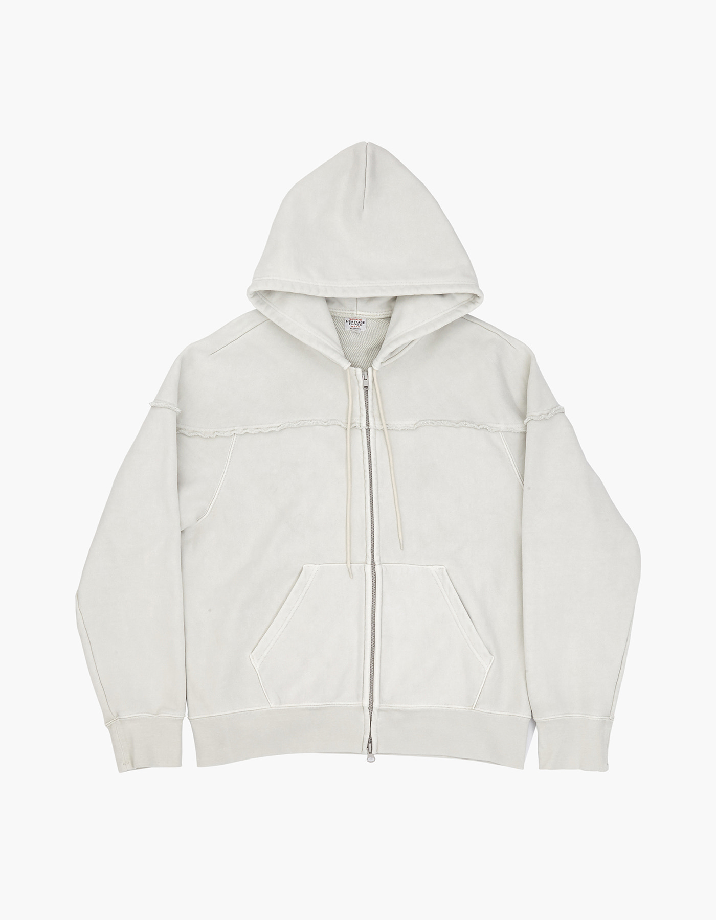 221 PIGMENT ZIP-UP / LIGHT GREY