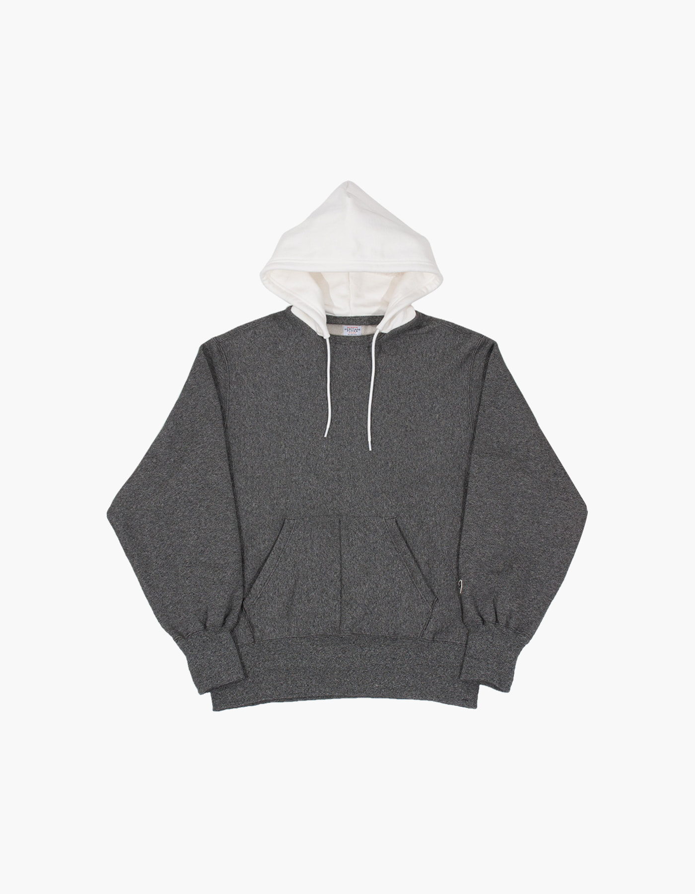 ACS BLOCKED HOODIE / SALT&PEPPER-WHITE
