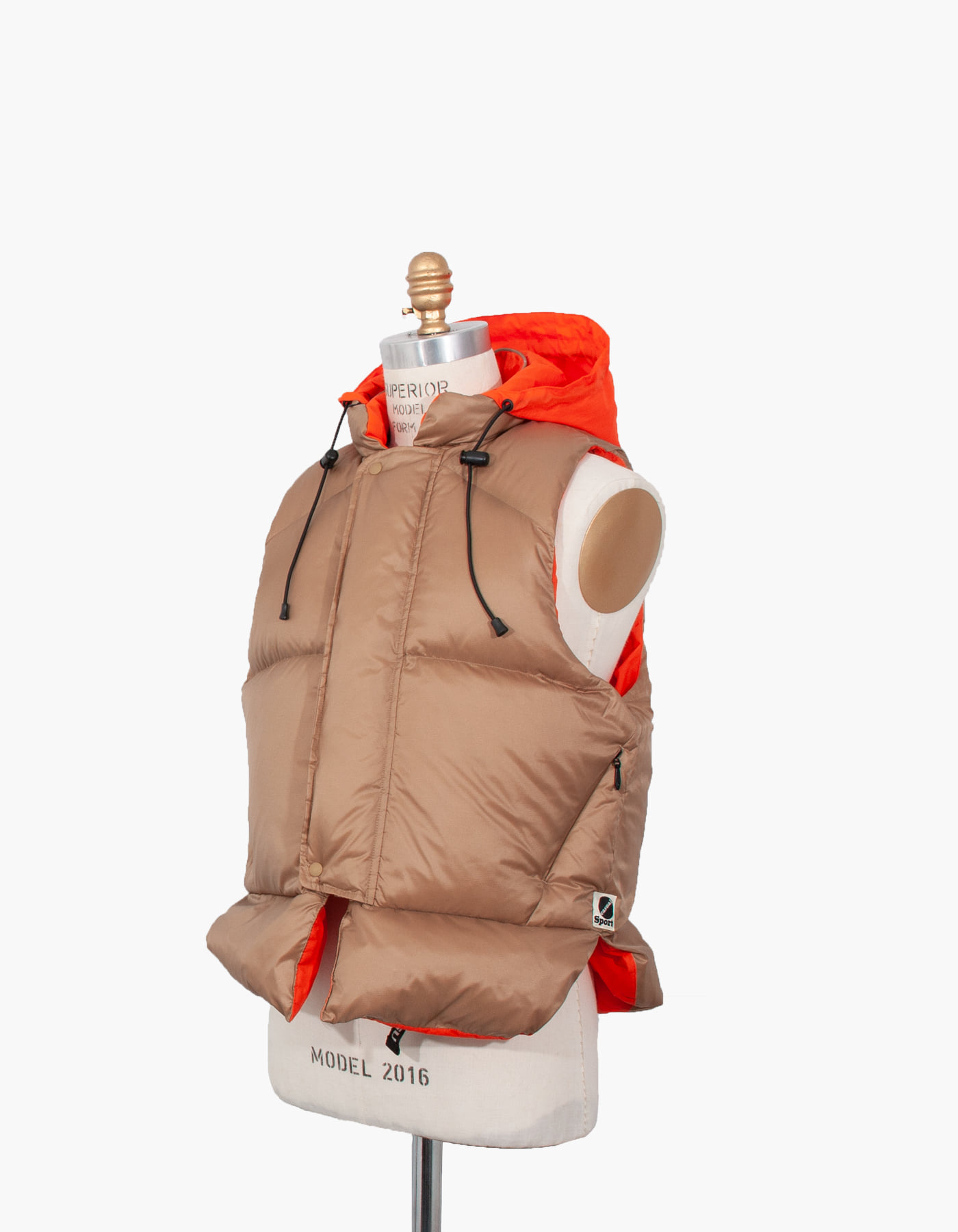 GOOSE DOWN LIFE VEST / LIGHT BROWN