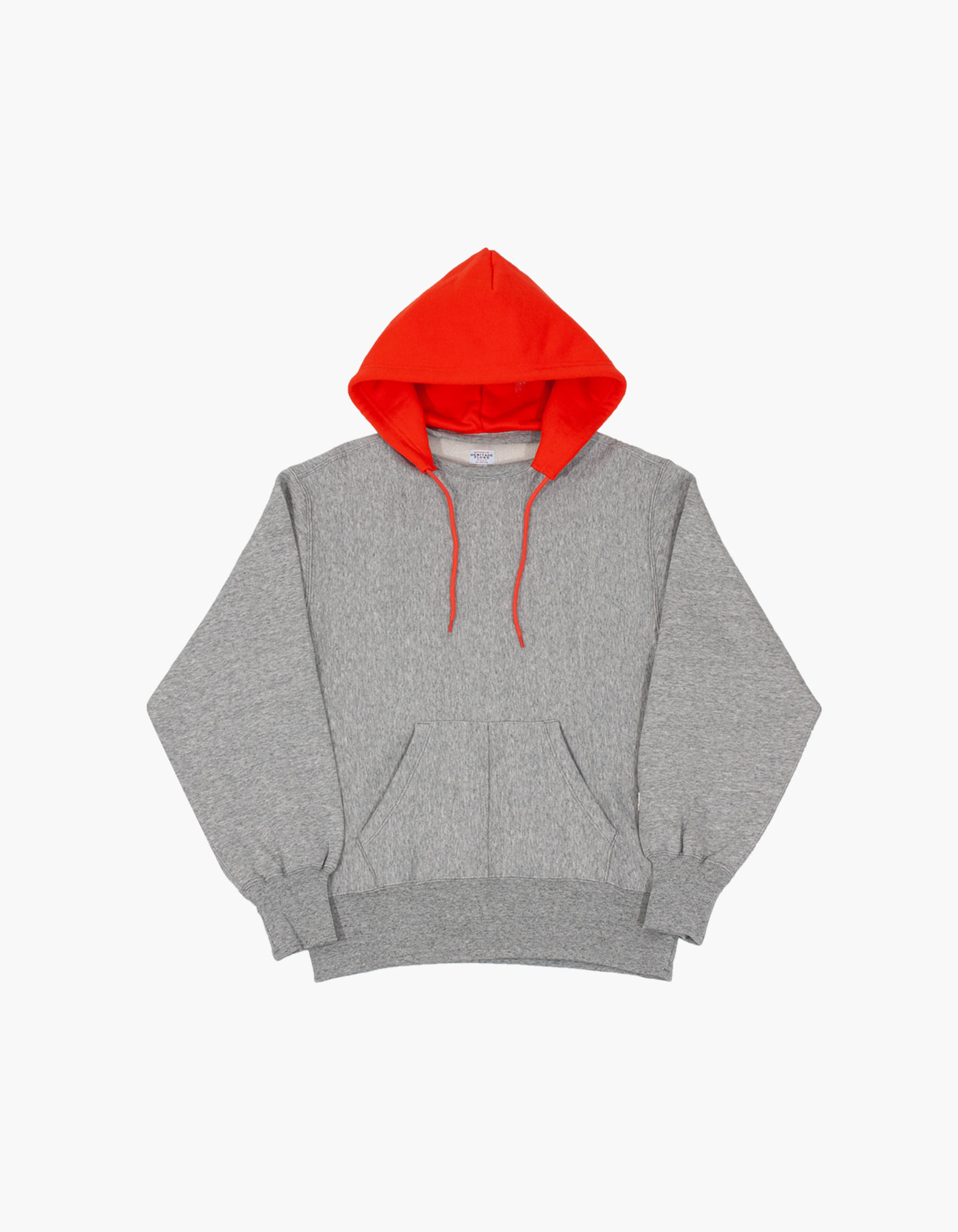 ACS BLOCKED HOODIE / M.GREY-RED