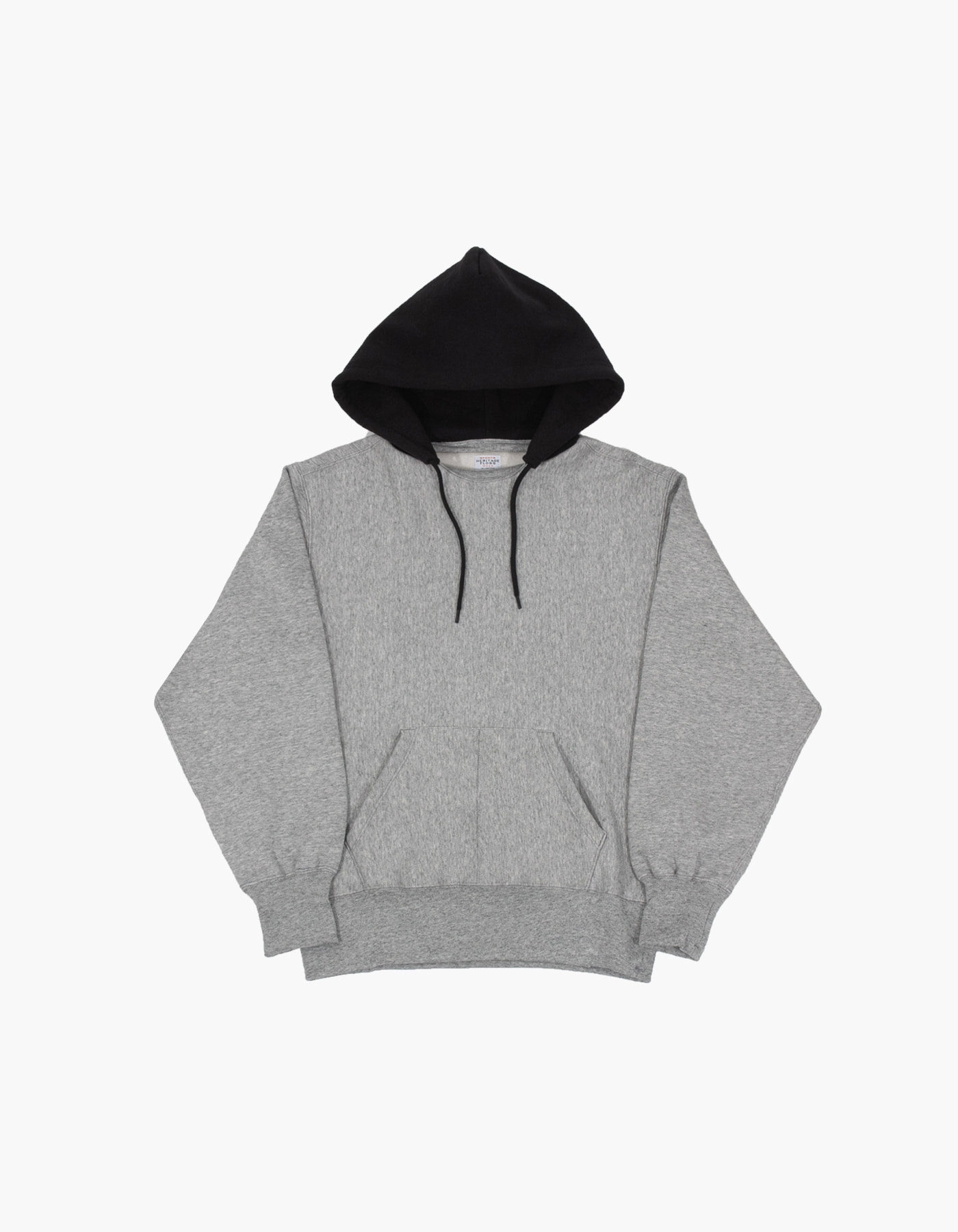 ACS BLOCKED HOODIE / M.GREY-BLACK