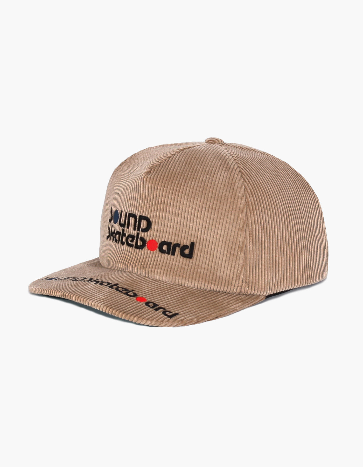 SOUNDSK8 CORDUROY 5 PANEL CAP / BEIGE