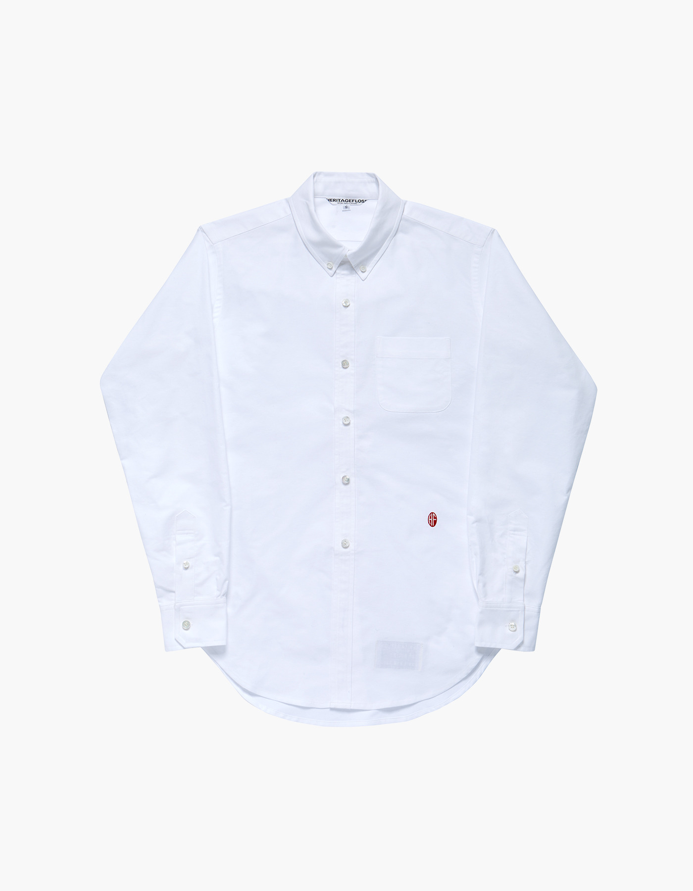 NON-WASHED OXFORD SPORT SHIRTS / WHITE
