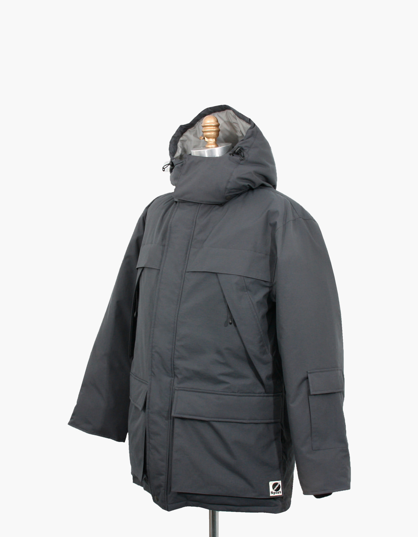 MOUNTAIN GOOSE DOWN PARKA / CHARCOAL