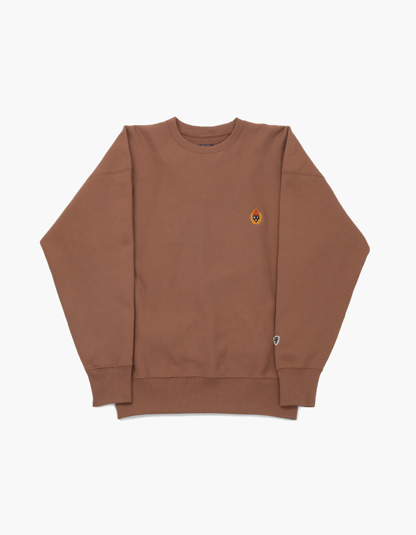 231 HFC CREWNECK / BROWN